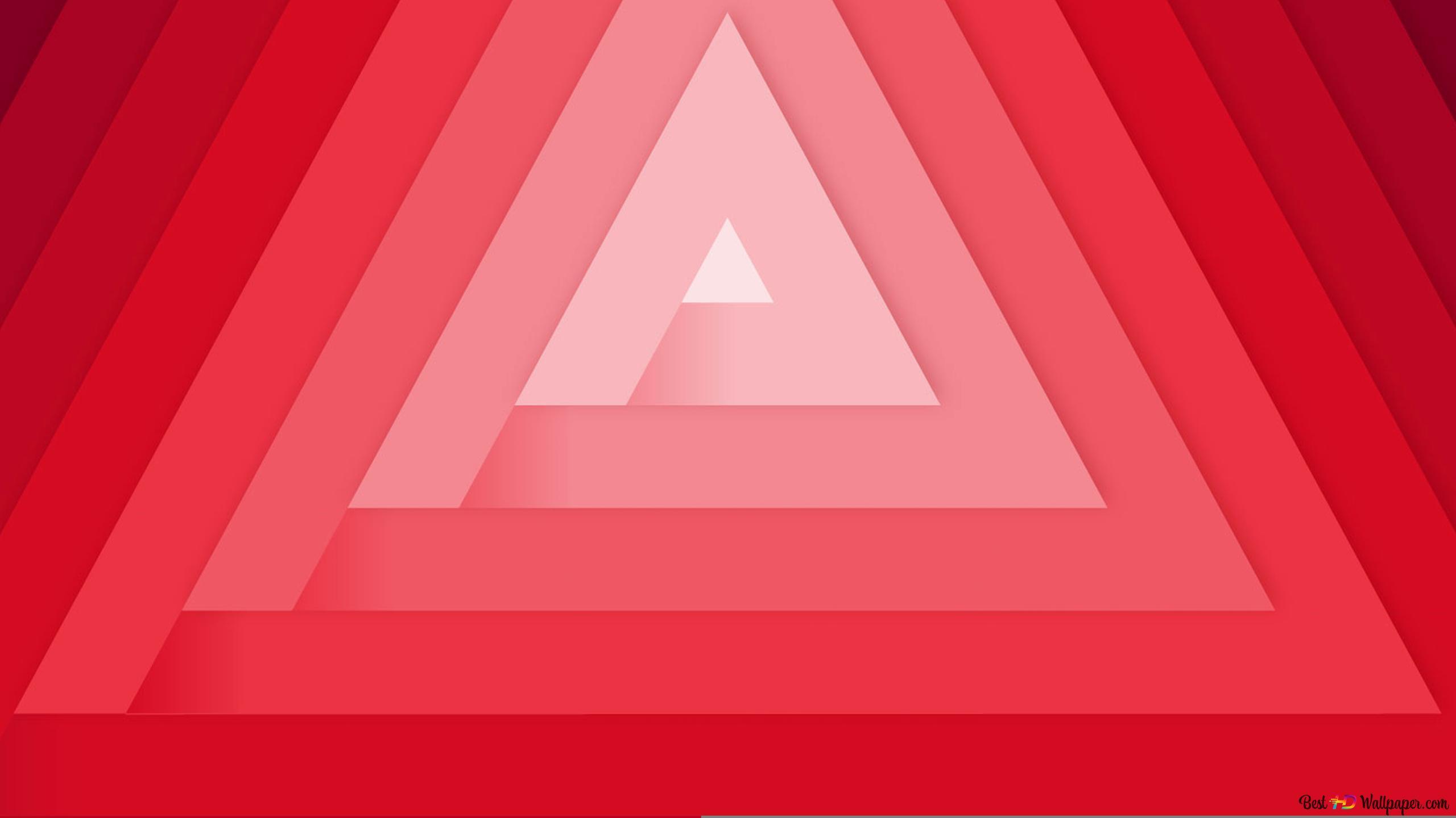 Rayures Triangle Rouge Hd Fond Décran Télécharger