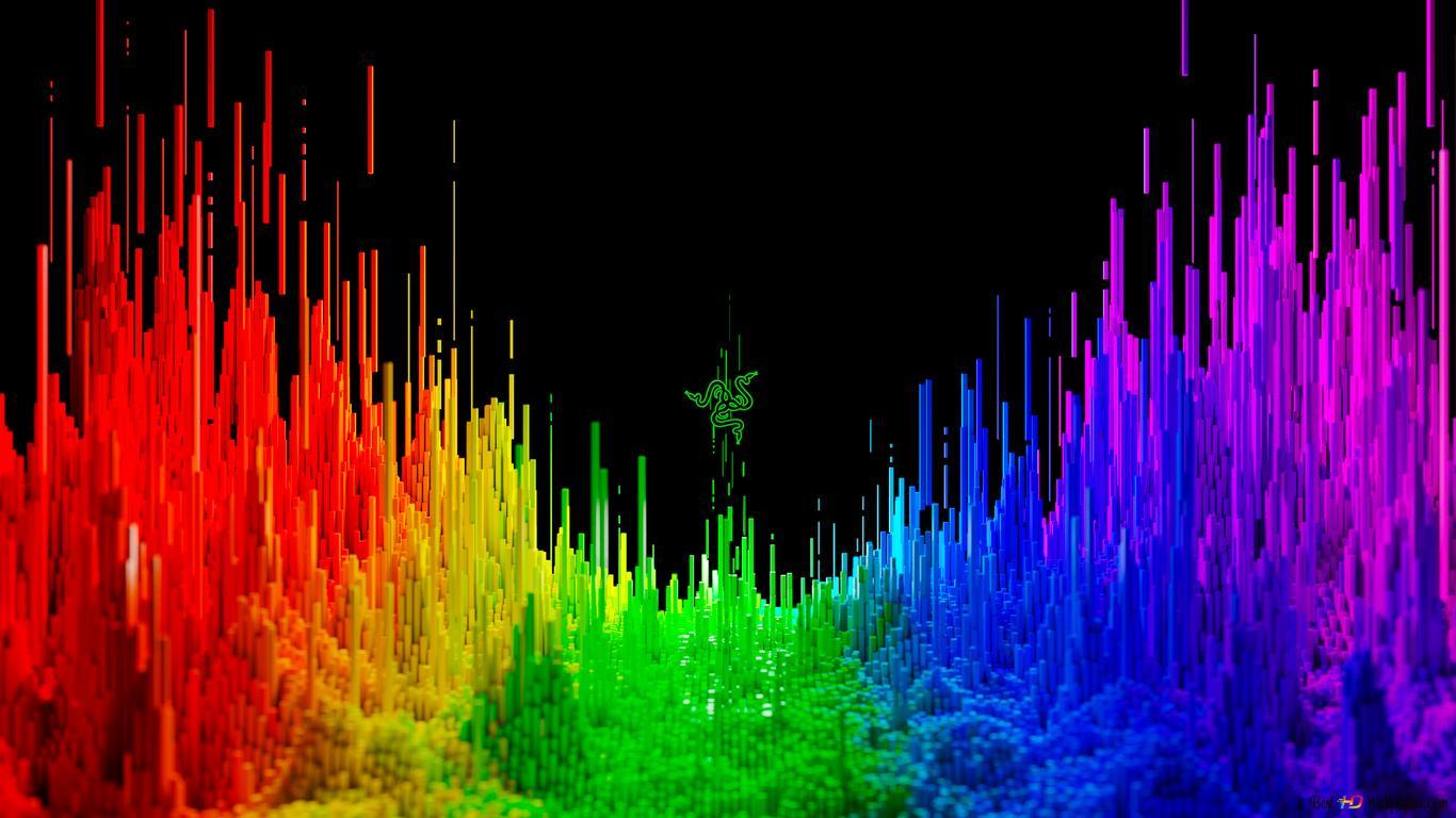 Razer Technology 3d Rainbow Background Hd Wallpaper Download
