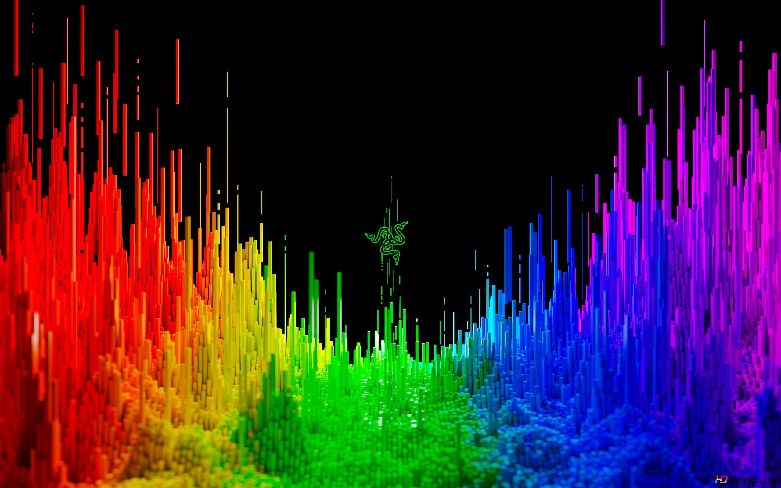 razer technology 3d rainbow background wallpaper 2560x1600 891 7