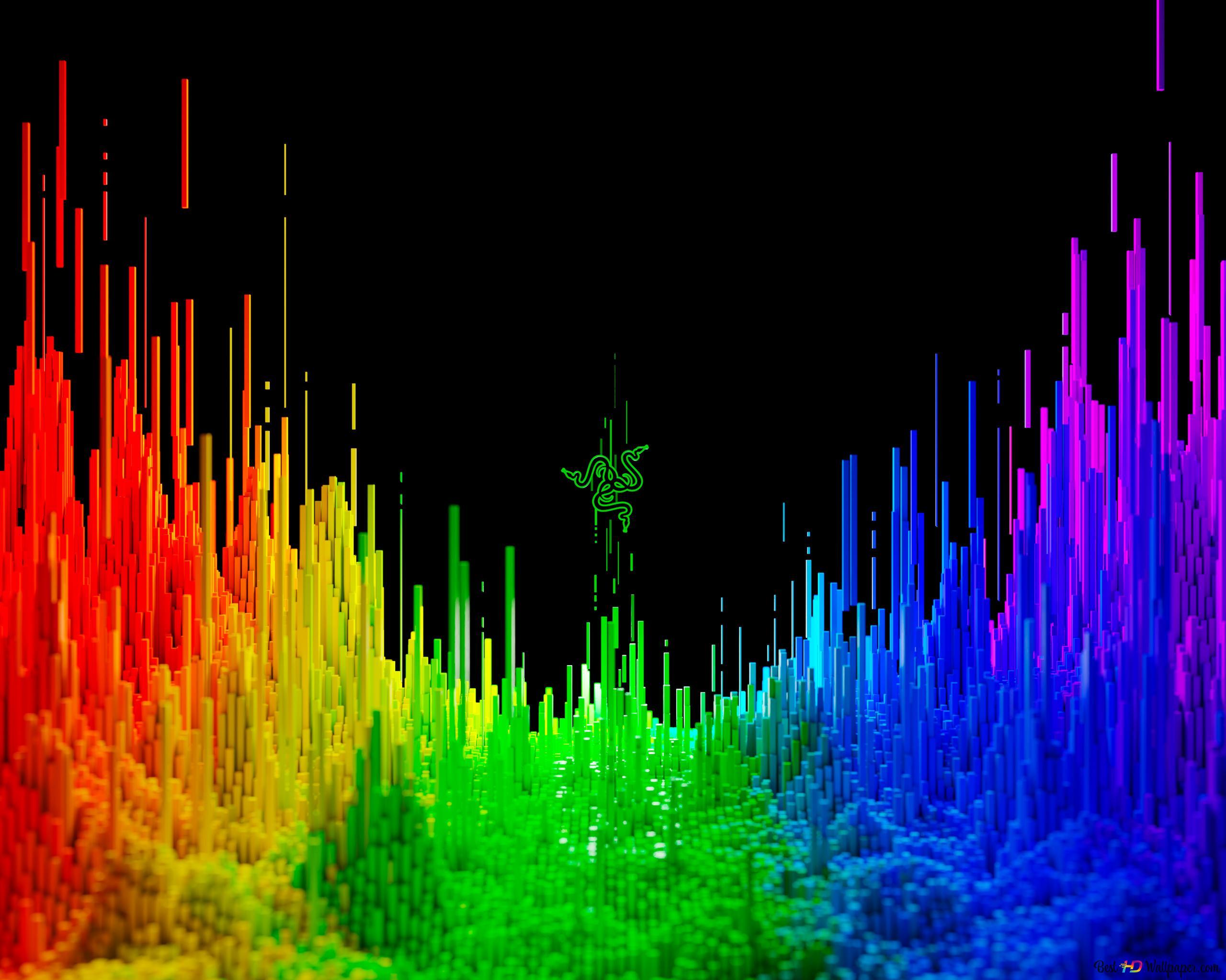 Razer tecnologia 3d sfondo arcobaleno download di sfondi hd for Sfondi razer