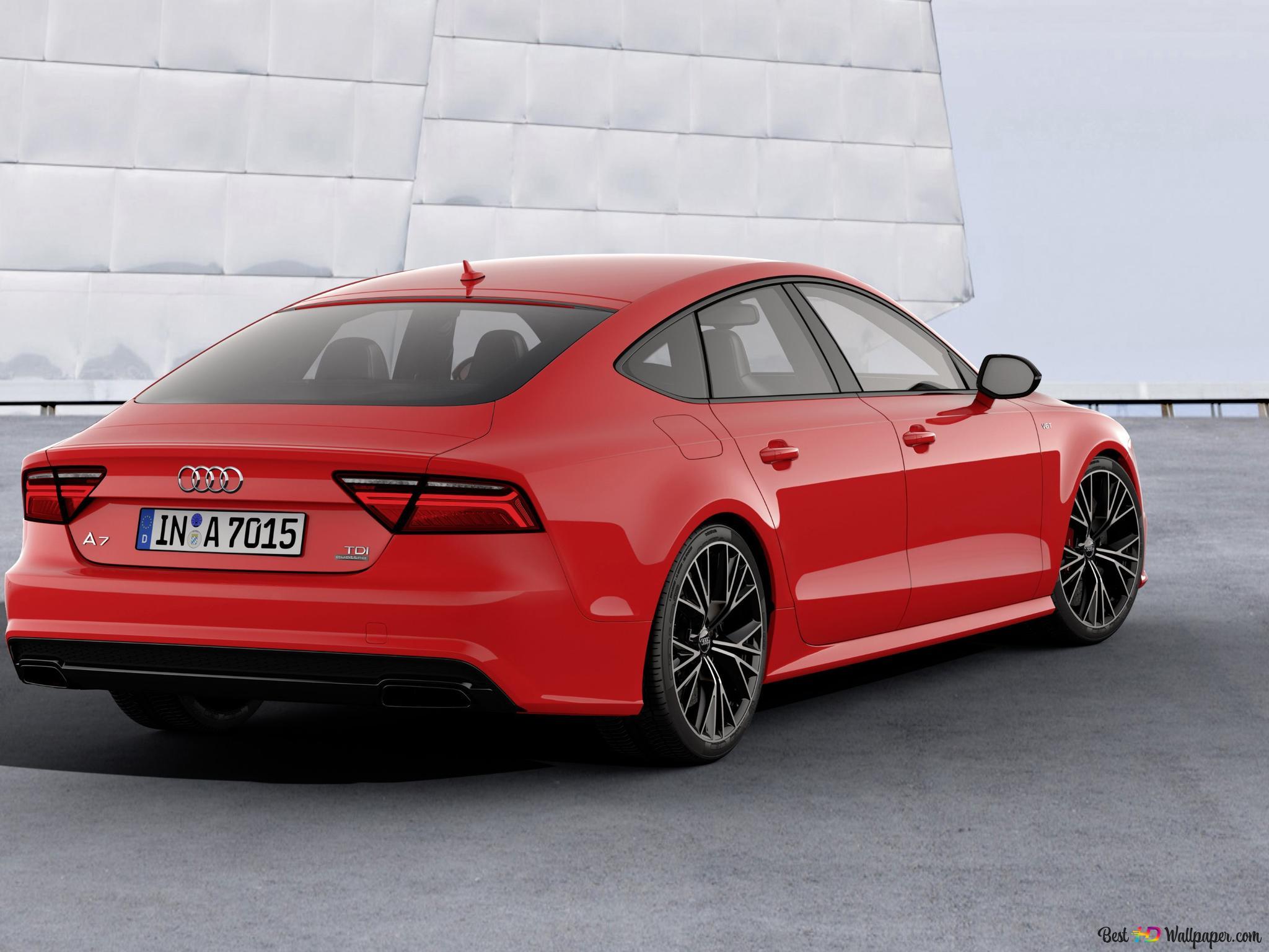 Red Audi A7 Hd Wallpaper Download