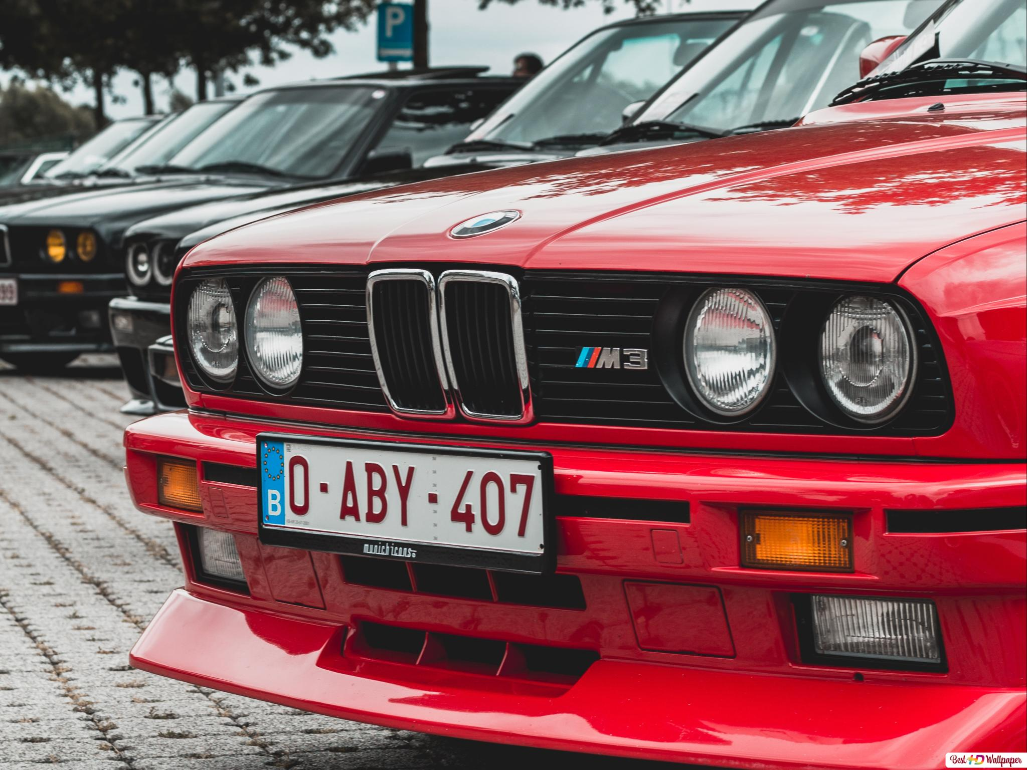 Red Bmw E30 Car Hd Wallpaper Download