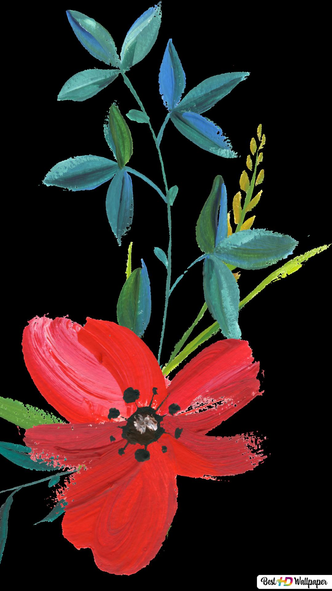 Flower Iphone Black Background Wallpaper