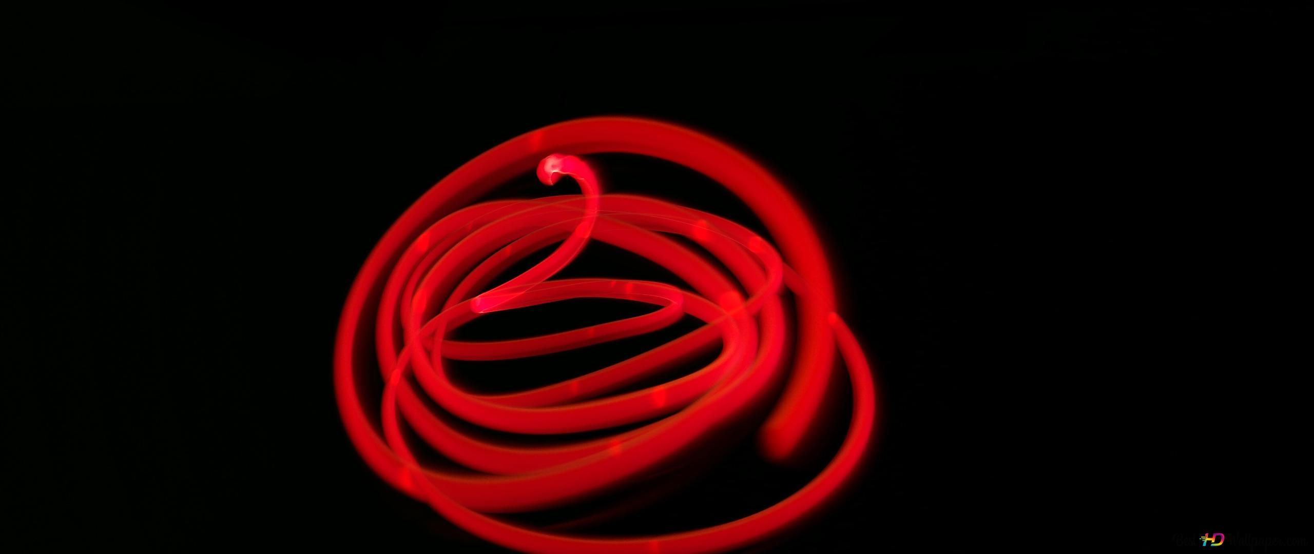 Red Hot Light Trails Hd Wallpaper Download