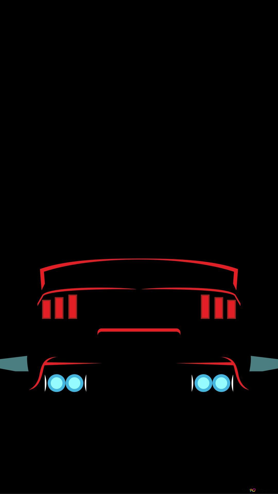 Red Mustang Black Wallpaper Hd Wallpaper Download