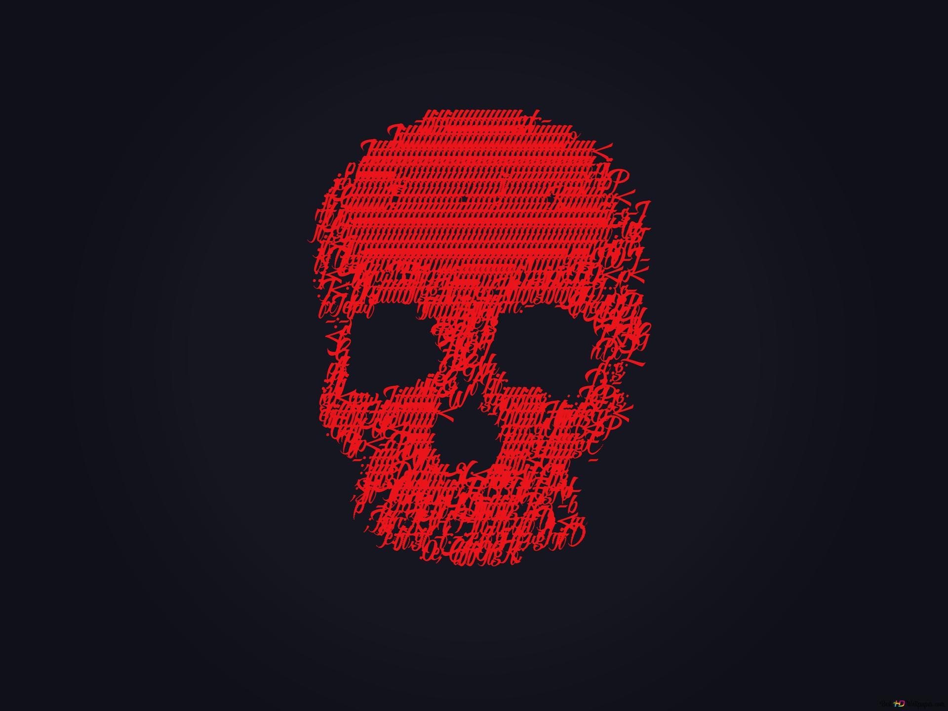 Red skull HD wallpaper download