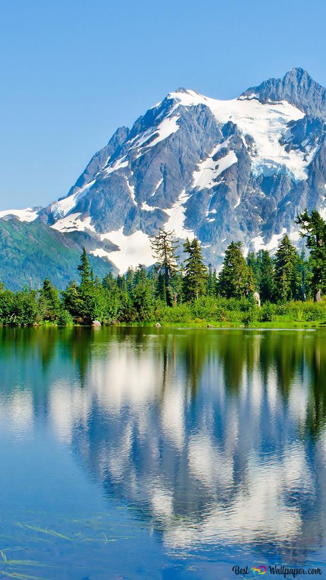 Refrlection Di Montagna In Inverno Download Di Sfondi Hd