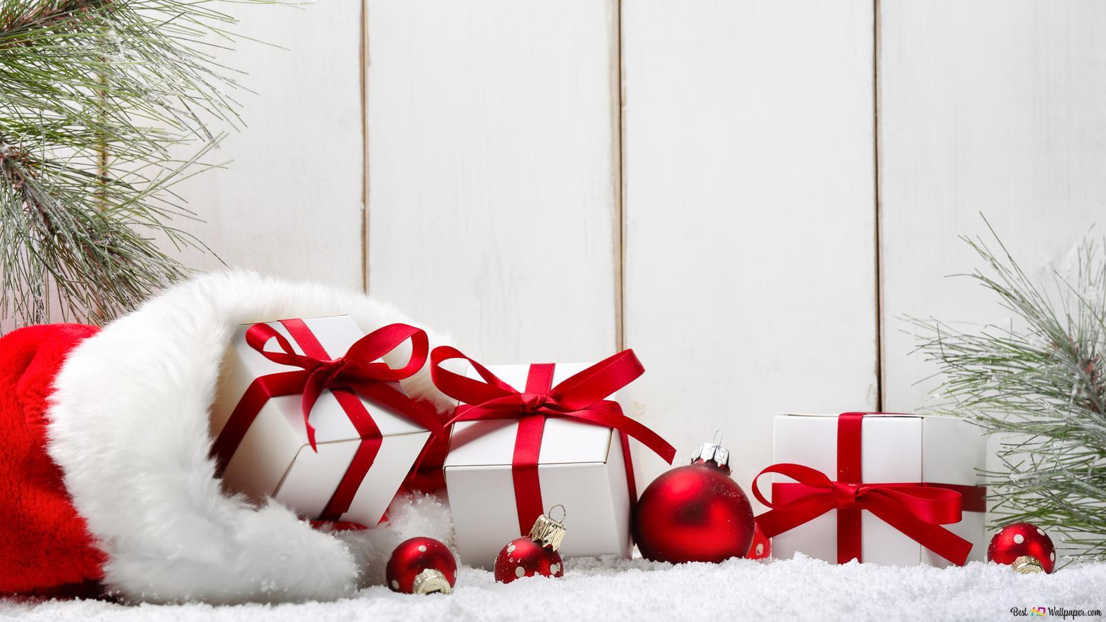 Sfondi Natalizi Lumia.Regali Di Natale In Sacco Rosso Download Di Sfondi Hd