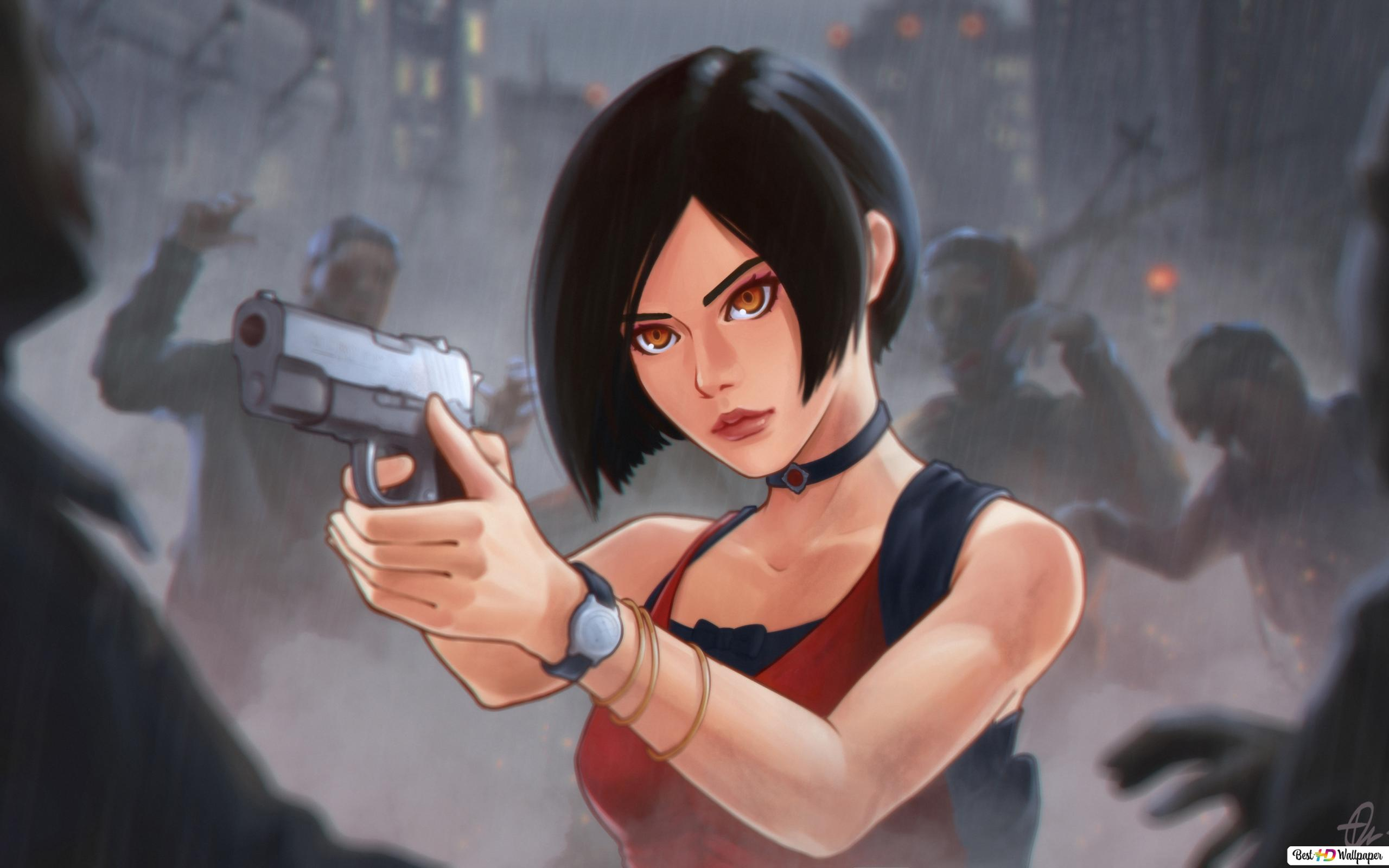 Resident Evil 2 2019 Game Ada Wong Fanart Hd Wallpaper Download