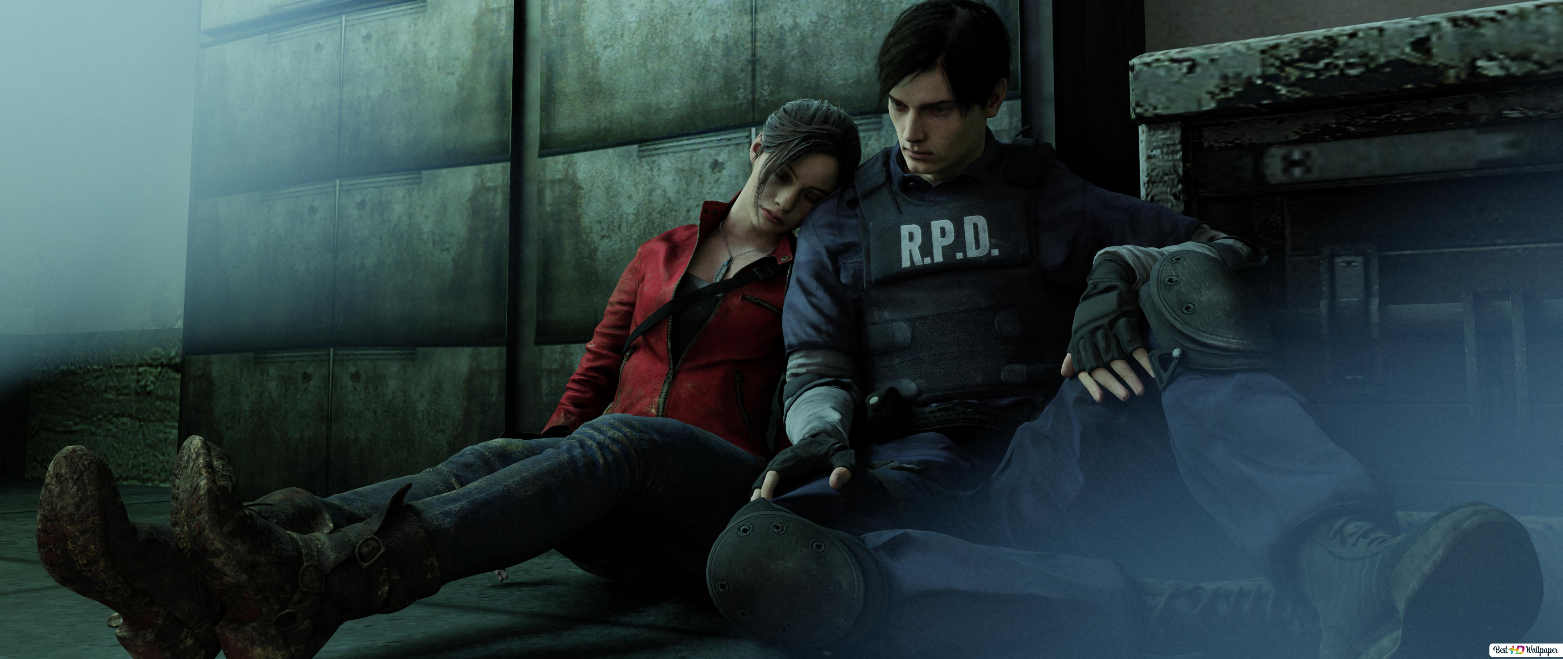 Resident Evil 2 2019 Video Game Leon S Kennedy Claire