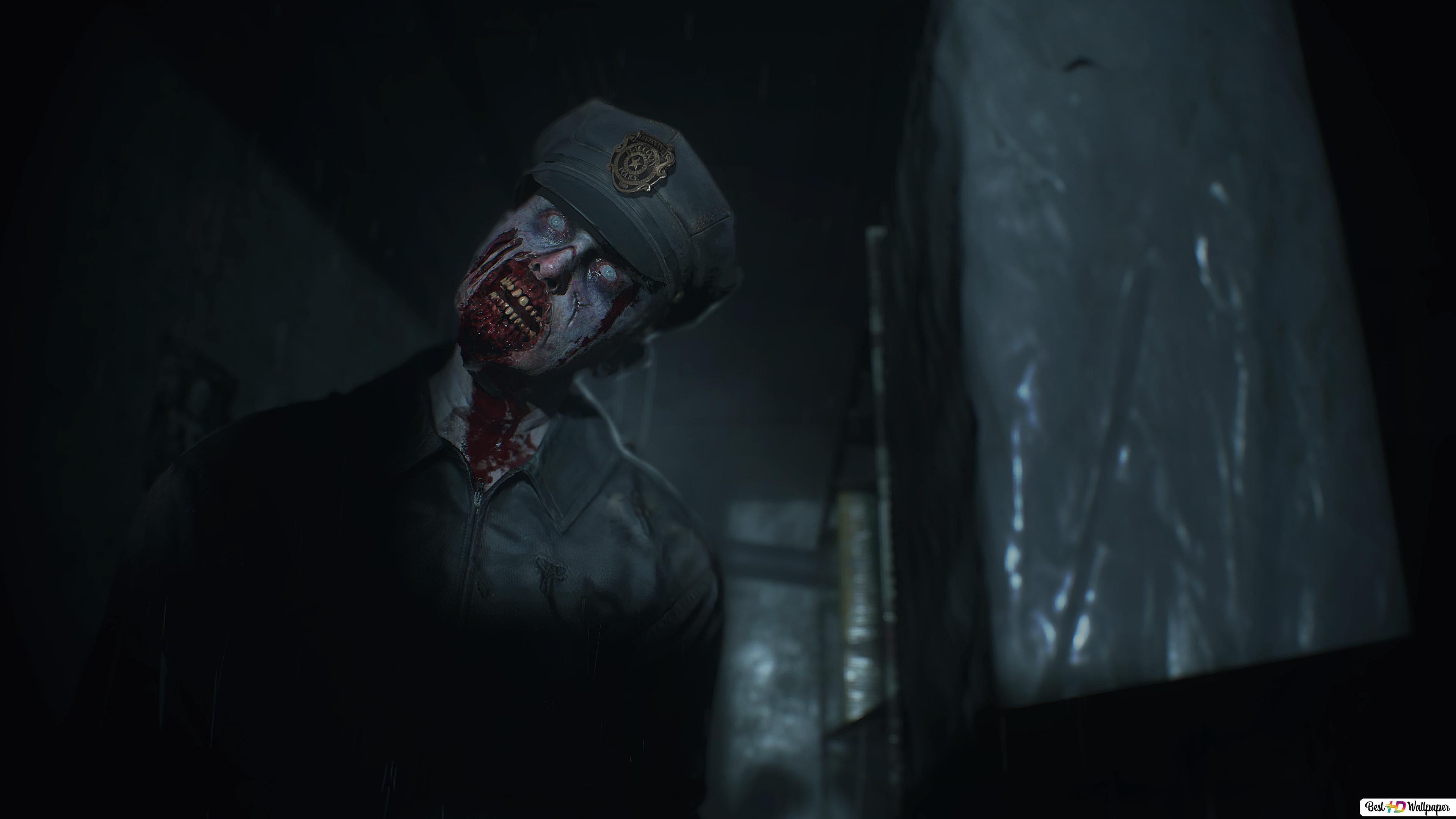 Resident Evil 2 Police Zombie Hd Wallpaper Download
