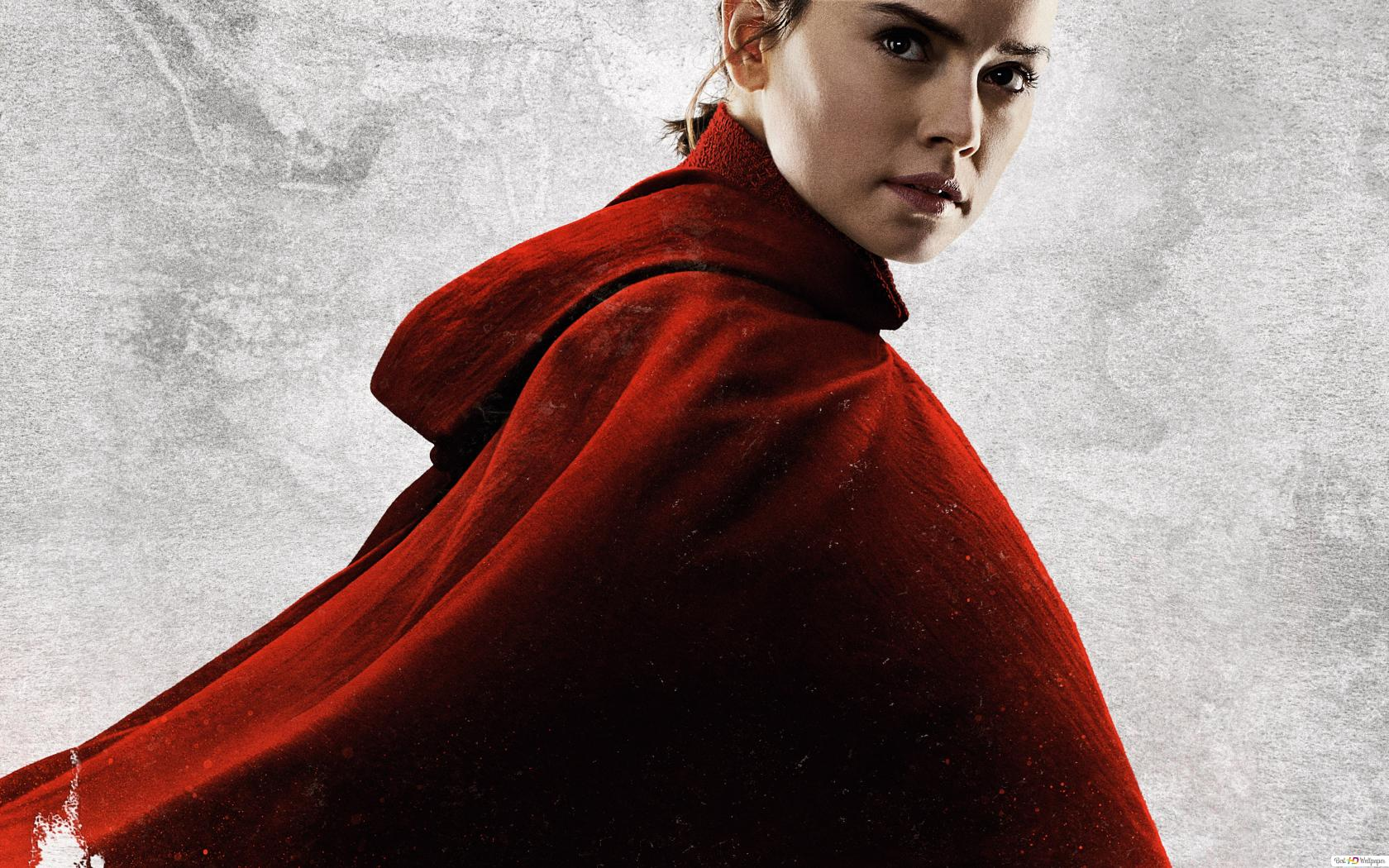 Rey In A Red Hoodie Hd Wallpaper Download