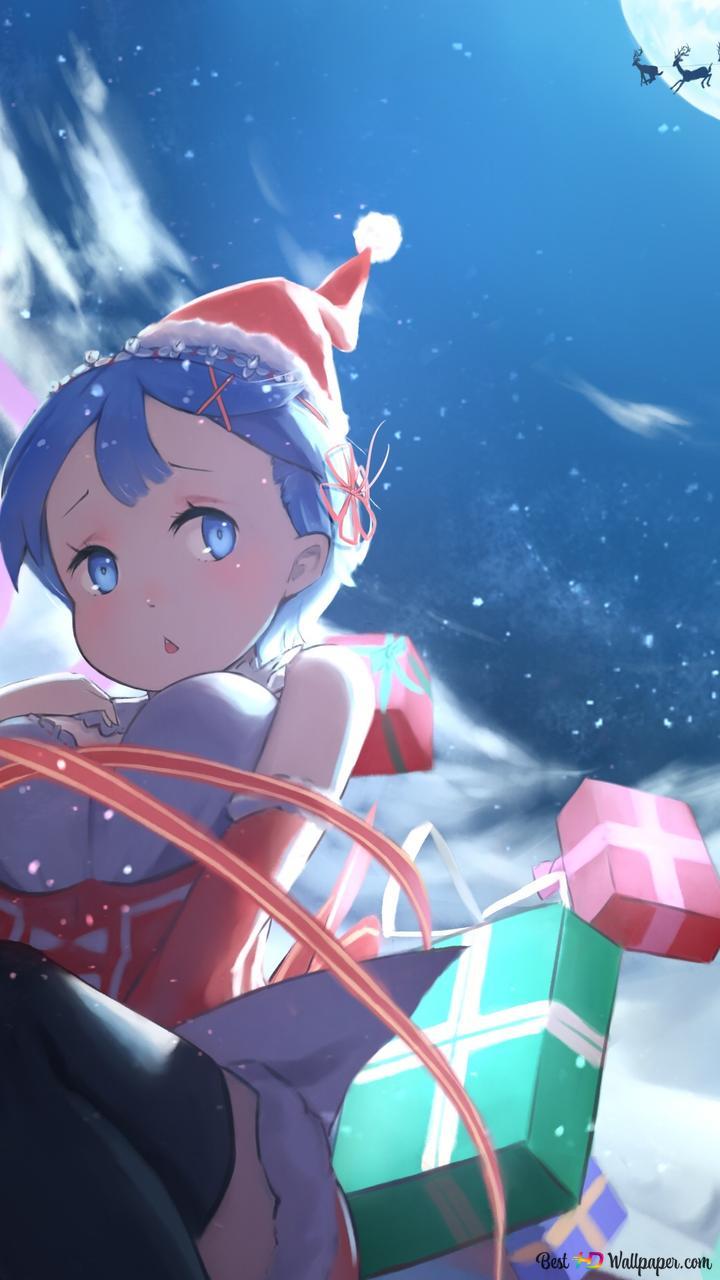 Rezero Starting Life In Another World Rem Child Christmas Hd