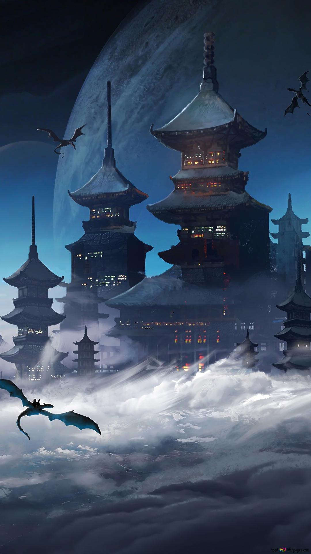 日本天空之城高清壁紙下載