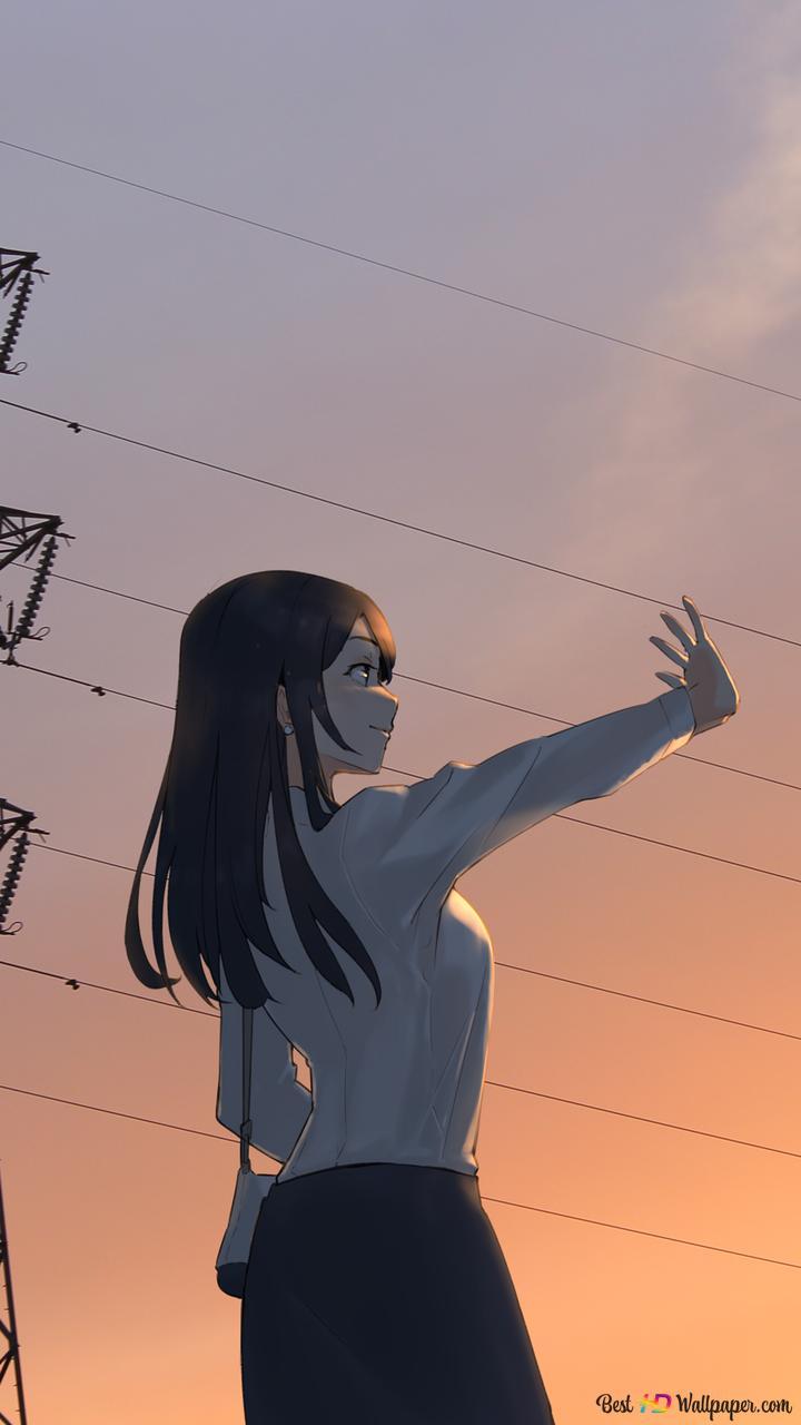 日没で敬遠アニメの女の子 Hd壁紙のダウンロード