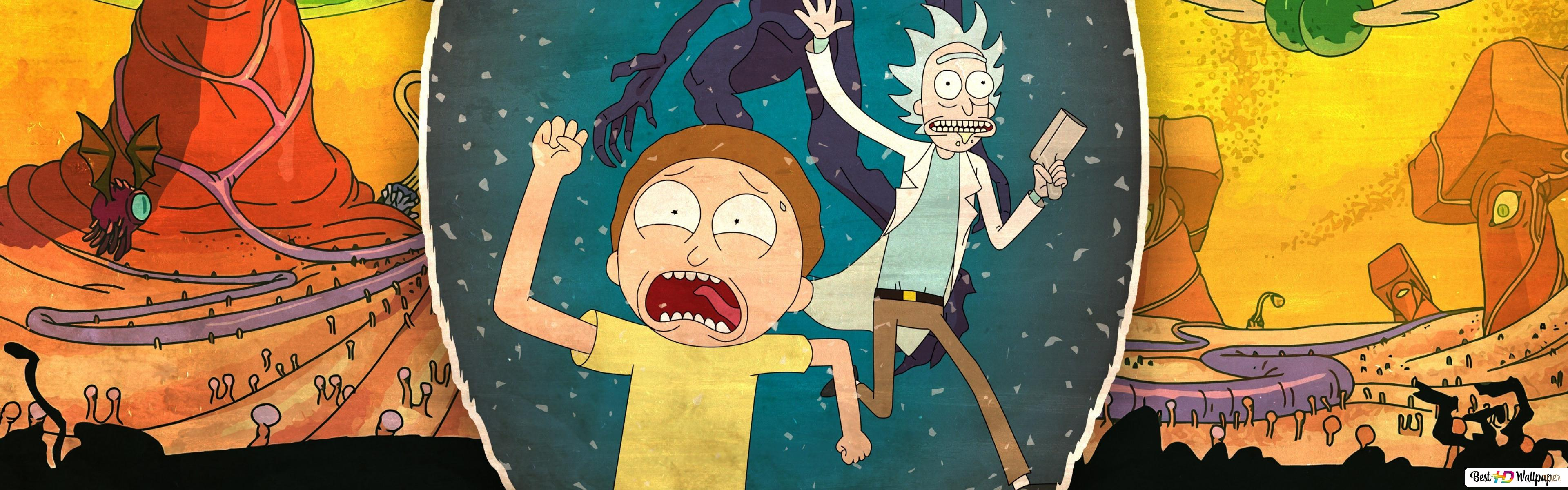 Rick And Morty And Monsters Hd Wallpaper Download