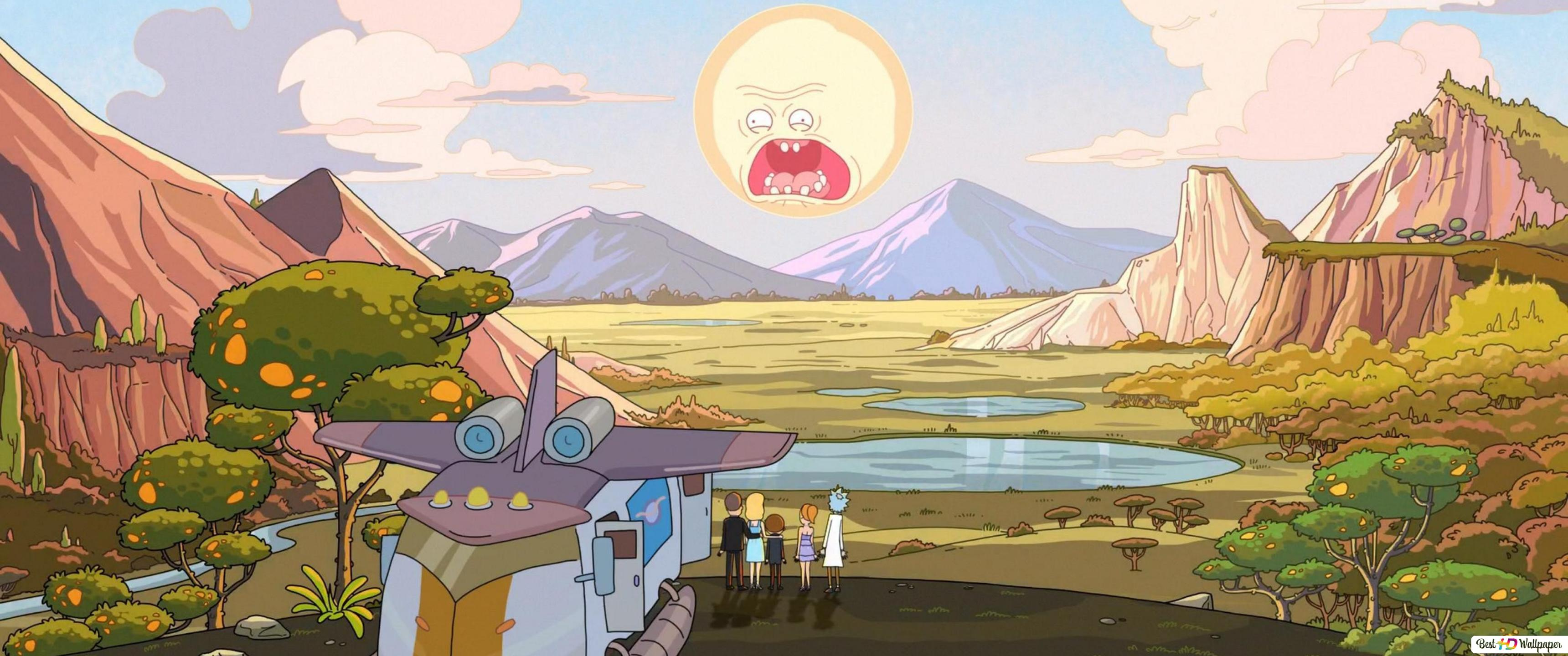Rick And Morty And Sun Hd Wallpaper Download