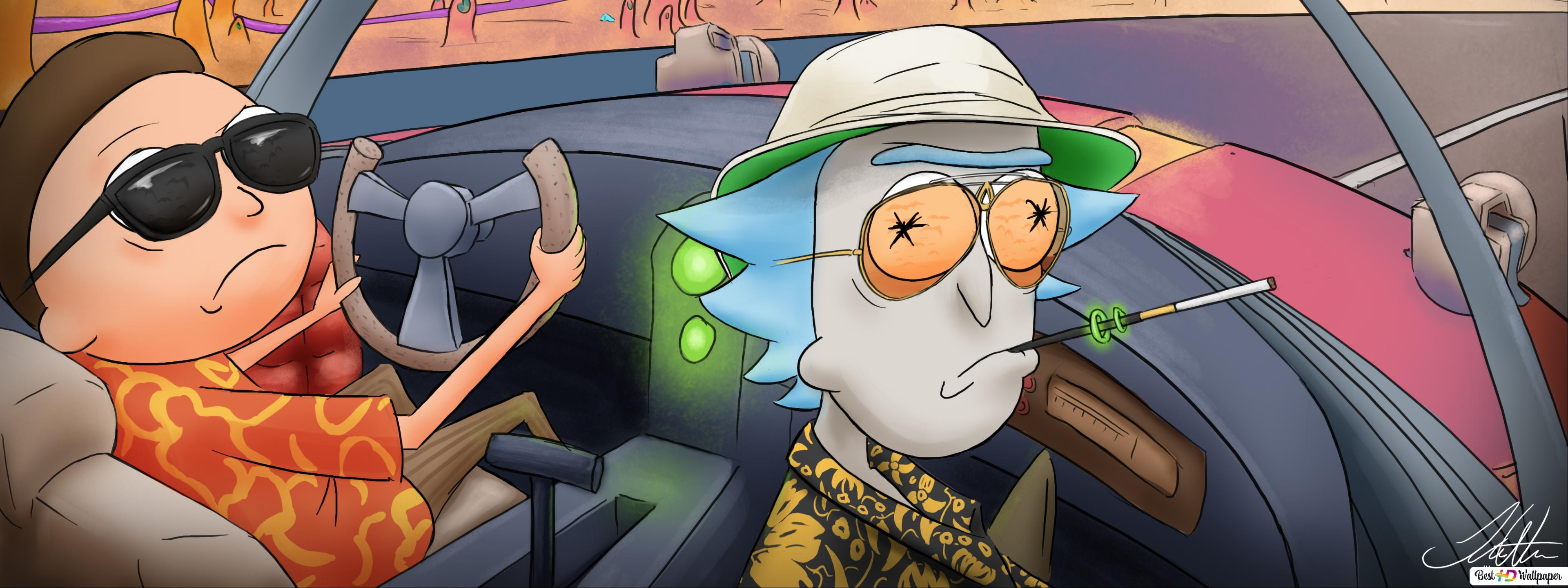 Rick And Morty Cool Driving Hd Wallpaper Download