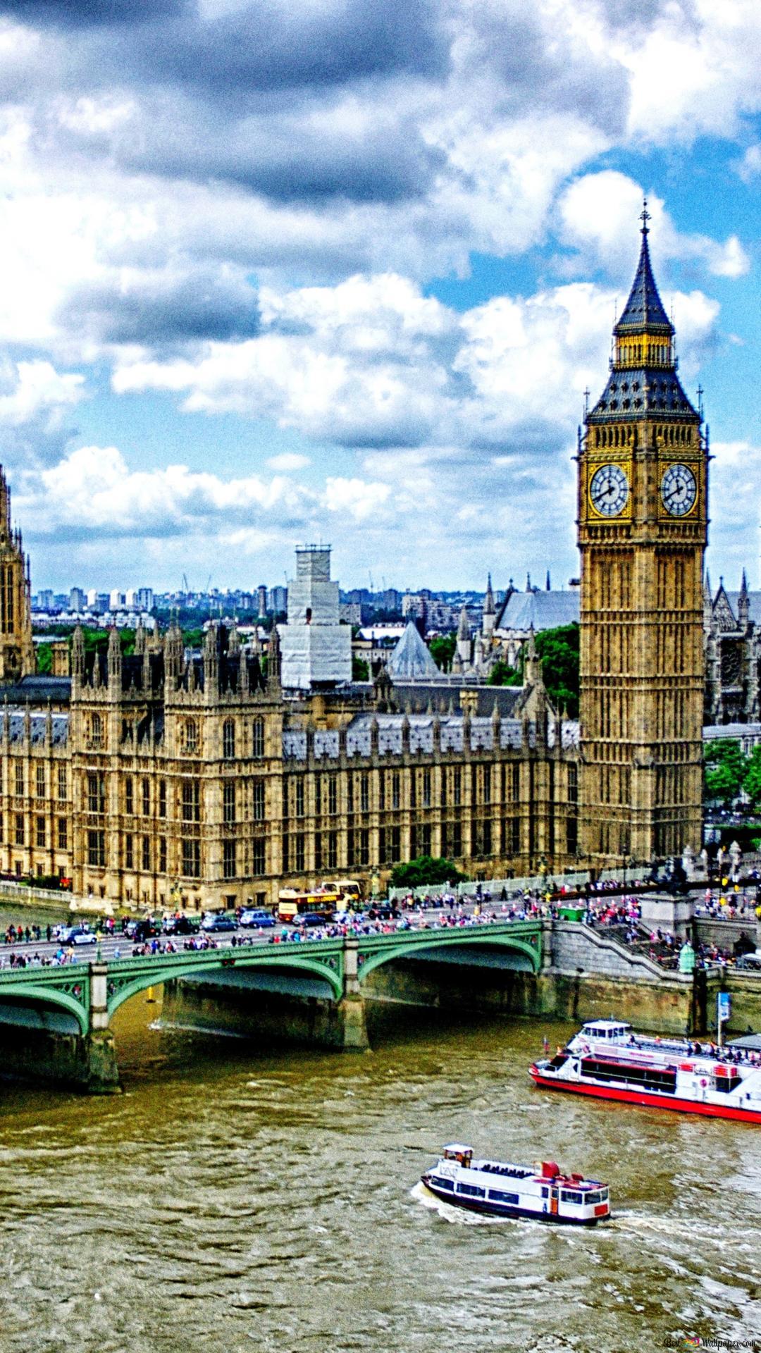 ロンドンのウェストミンスター宮殿や街の景色 Hd壁紙のダウンロード