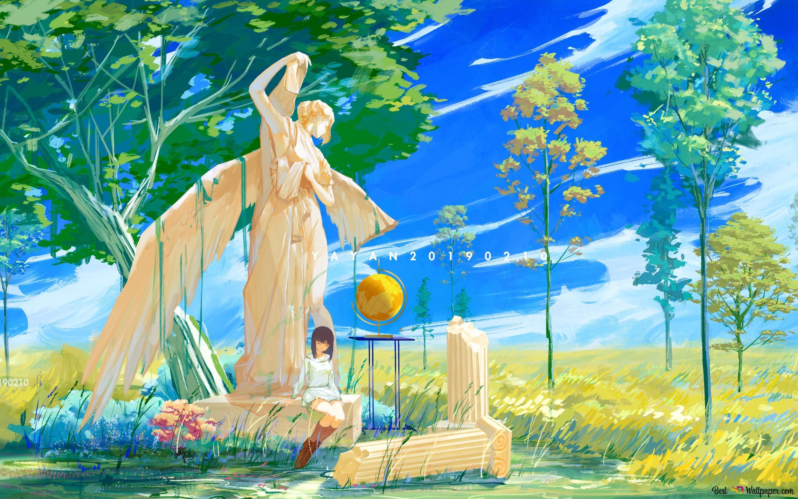 Rotto Statua Download Di Sfondi Hd