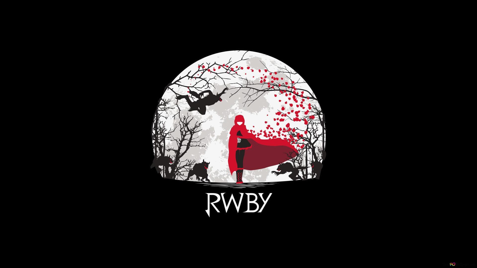 Rwby ルビーローズ 満月の夜 Hd壁紙のダウンロード