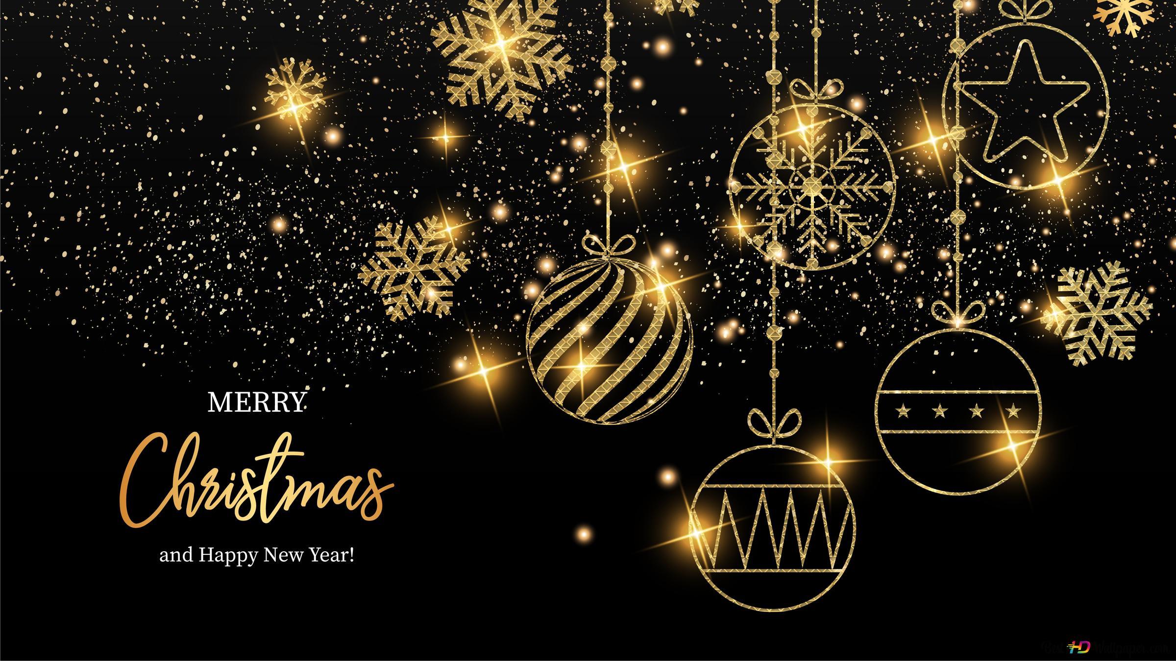 رائعة عيد الميلاد خلفية سوداء والحلي تنزيل خلفية Hd