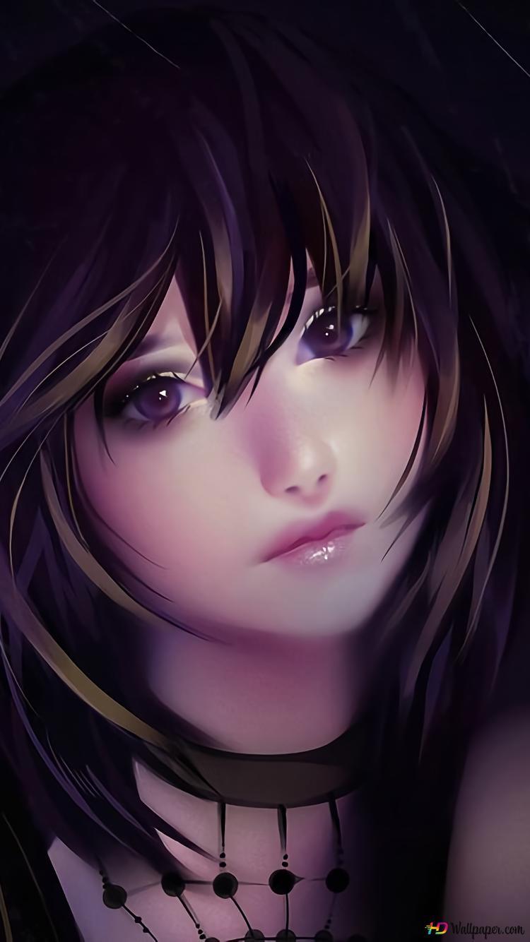 sad anime girl wallpaper 750x1334 28223 164
