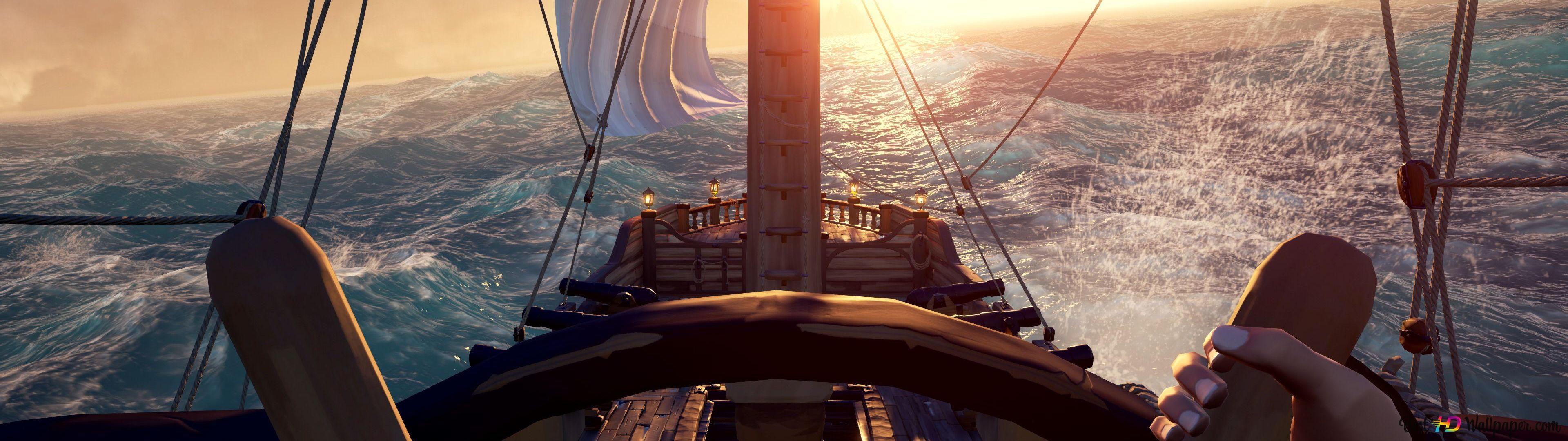 Sailing Sea Of Thieves Hd Wallpaper Download