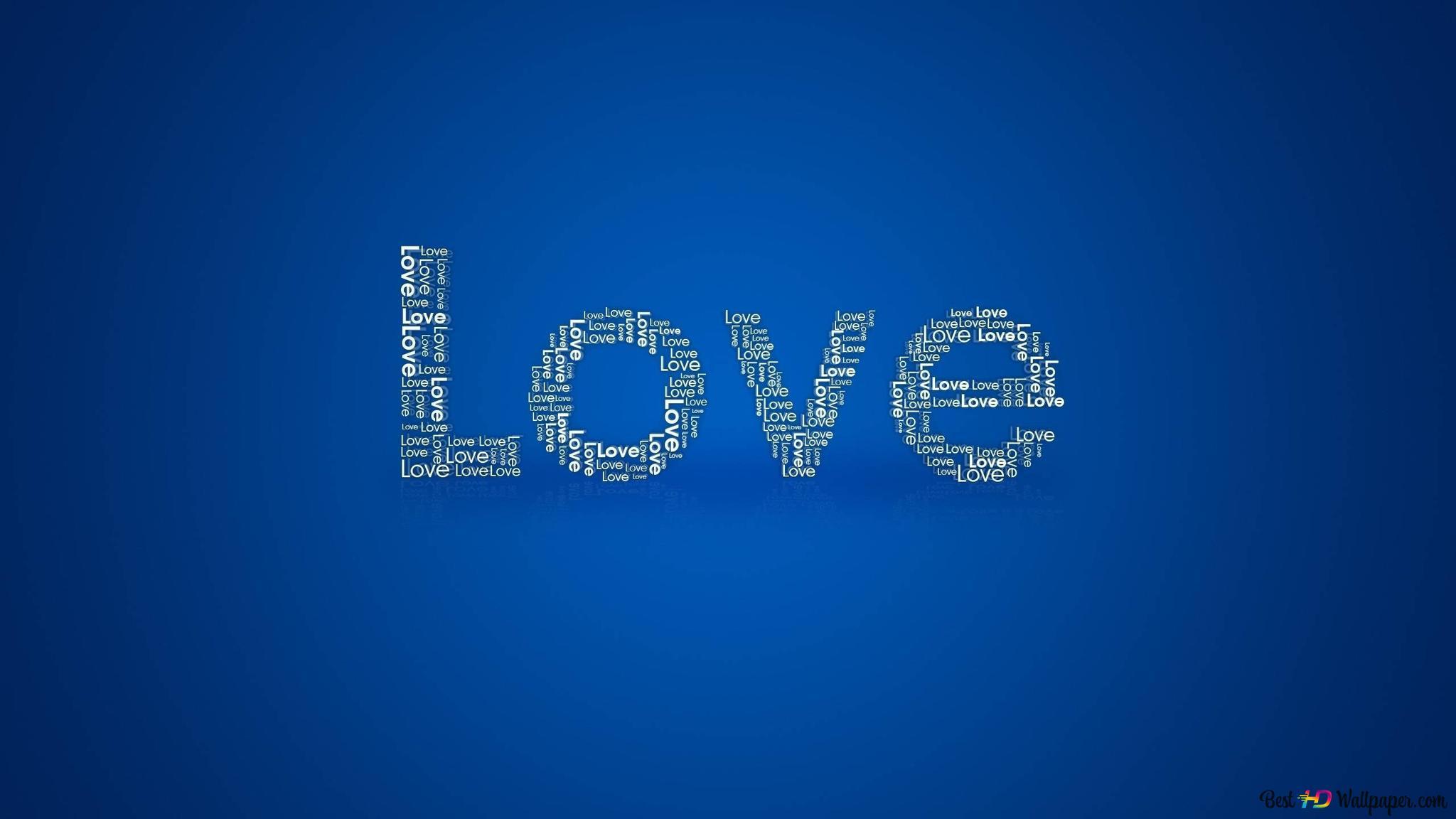 Saint Valentin Amour Fond Bleu Hd Fond Décran Télécharger