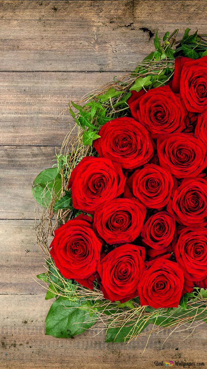 Saint Valentin Belles Roses Rouges Coeur Fleurs Hd Fond D Ecran
