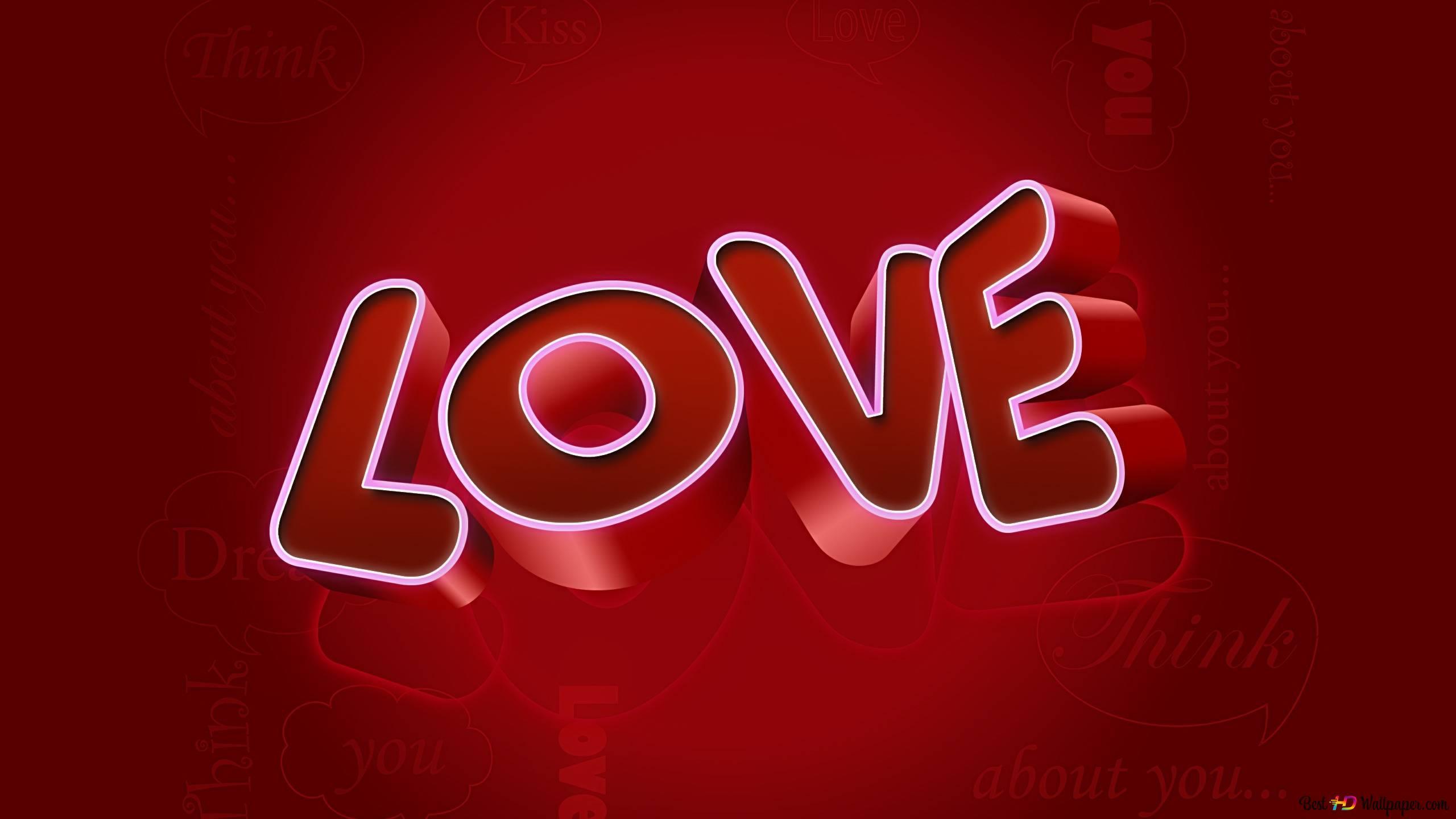 Saint Valentin Fond Rouge Damour Hd Fond Décran Télécharger
