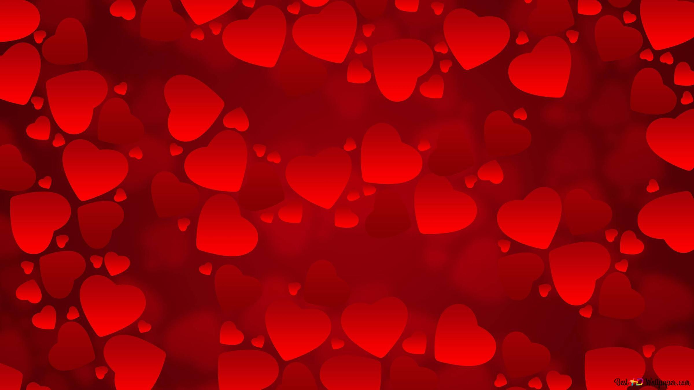 San Valentino Bel Rosso Sfondo Cuori Download Di Sfondi Hd