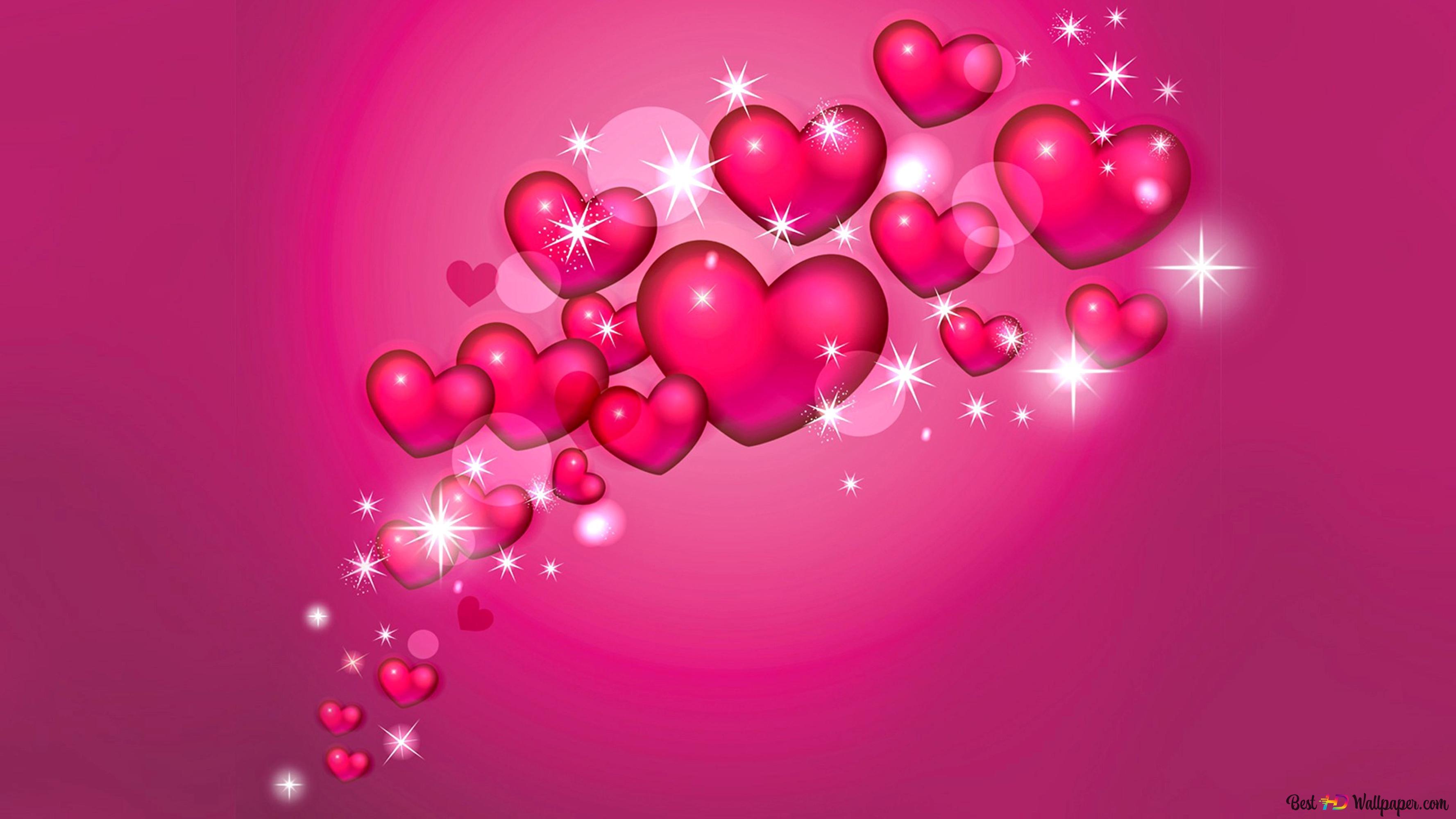 San Valentino Bella Rosa Cuori Sfondo Download Di Sfondi Hd