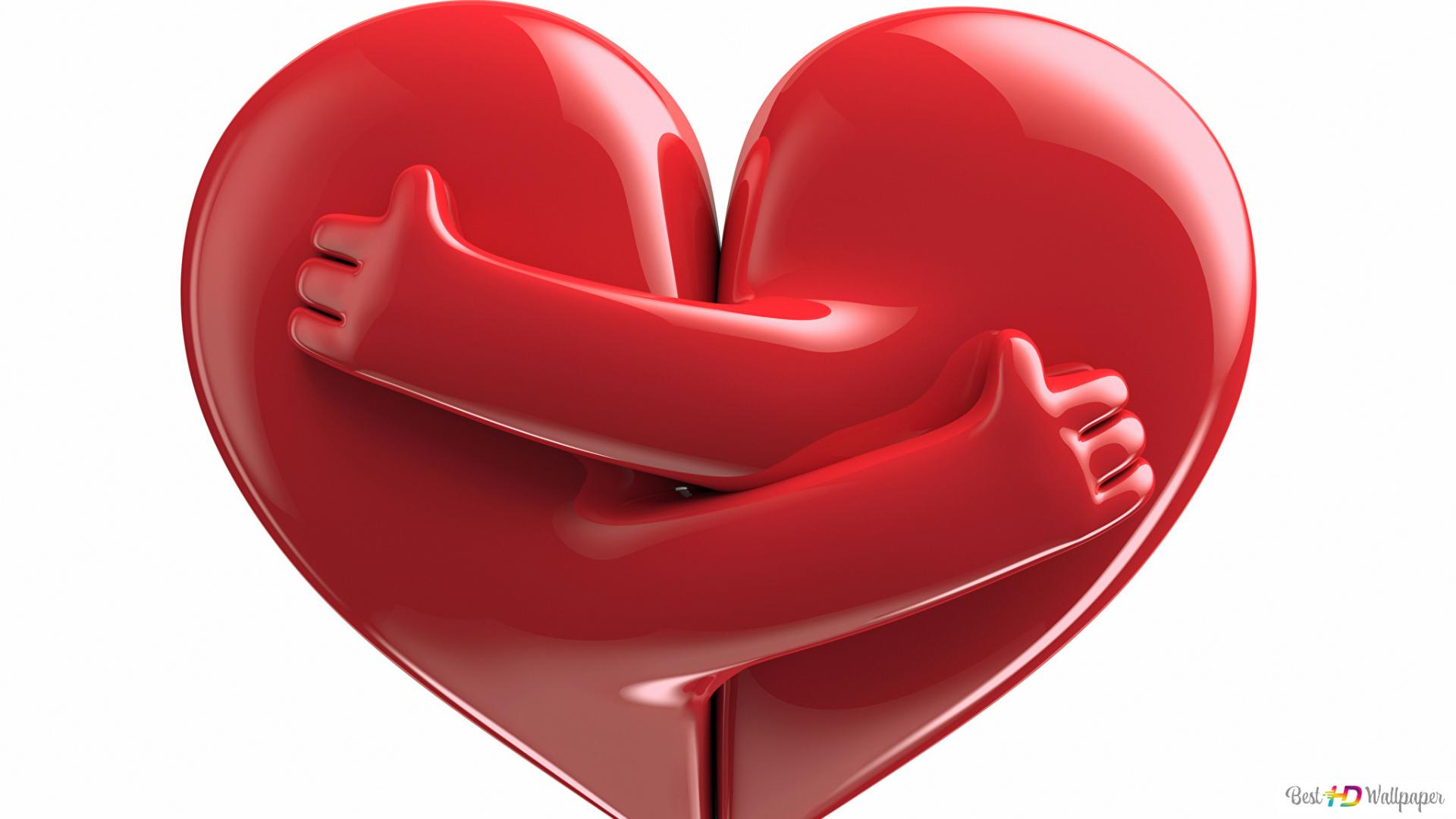 San Valentino Carino Cuori Abbracciare Download Di Sfondi Hd