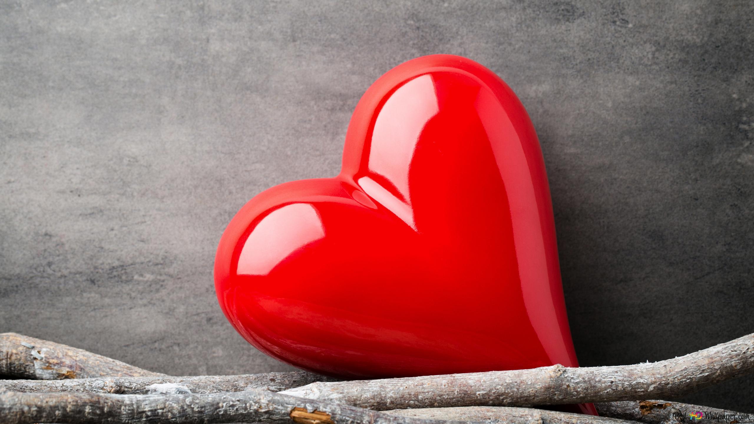 San Valentino Cute Sfondo Cuore Rosso Download Di Sfondi Hd