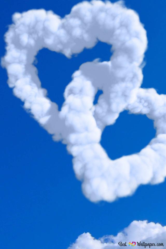 San Valentino Nuvole Cuore Nel Cielo Blu Download Di Sfondi Hd