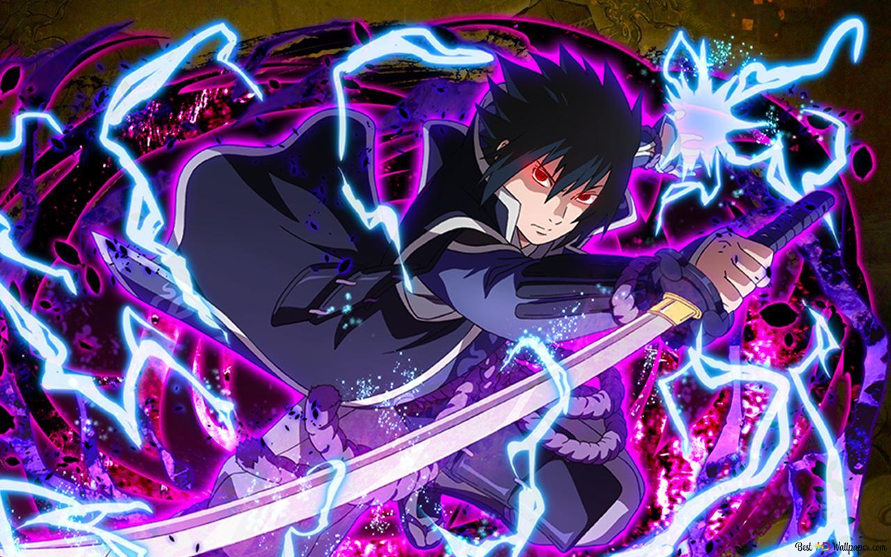sasuke uchiha lightning blade from naruto shippuden for desktop wallpaper 1280x800 56037 3