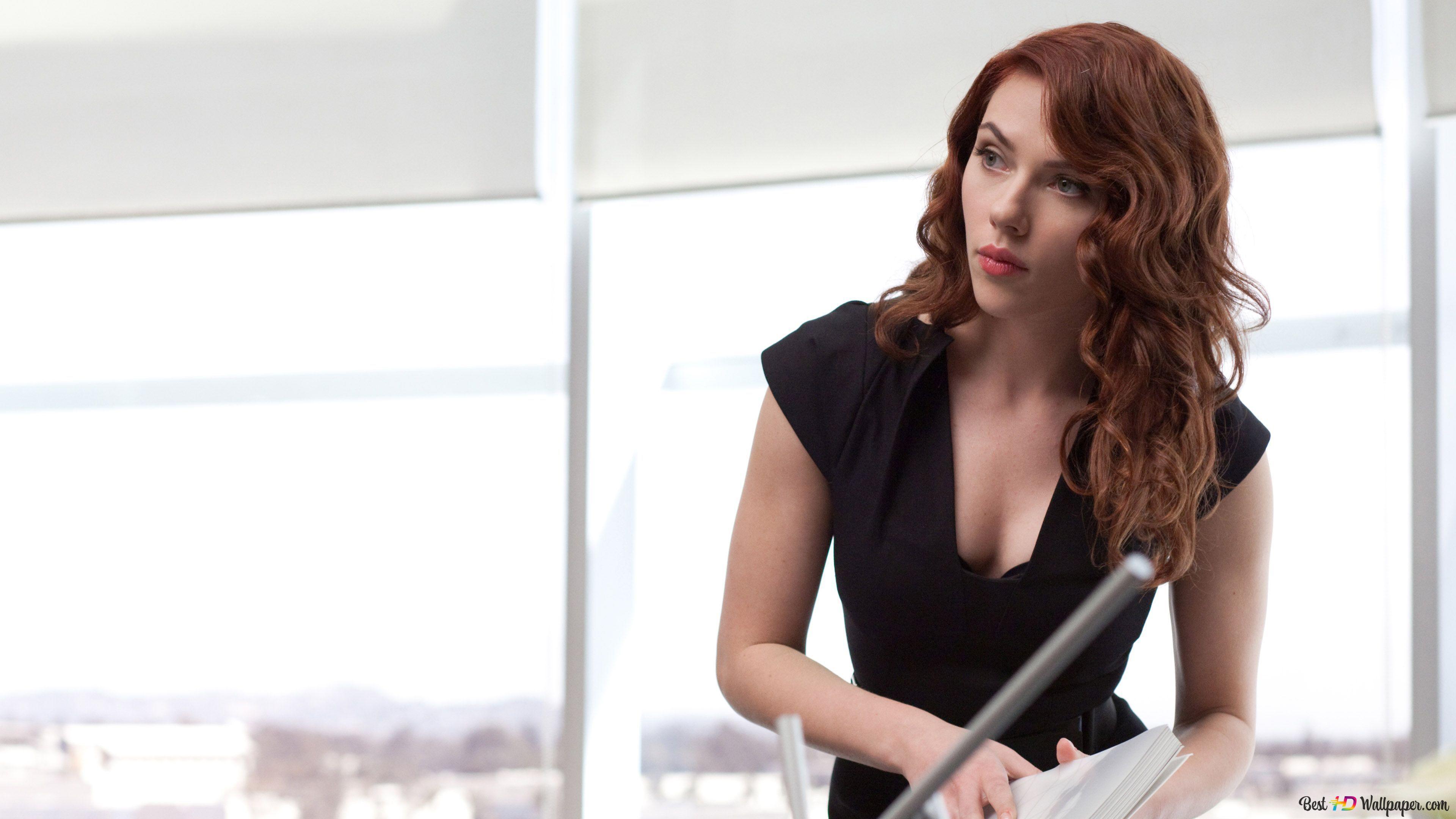 Scarlett Johansson As Black Widow In Avengers Hd Wallpaper Download