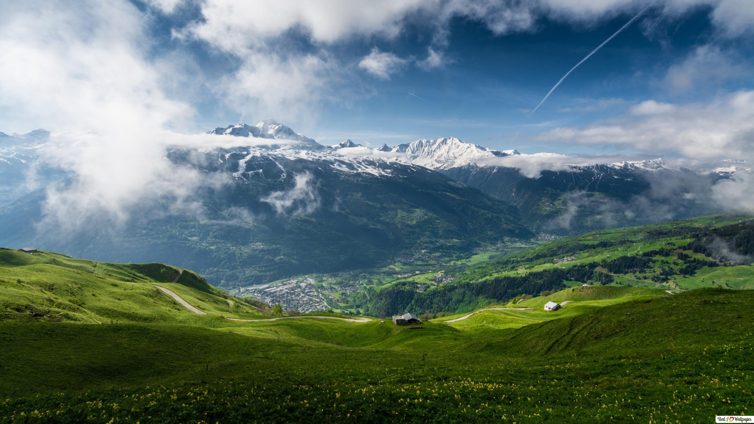 Schnee In Den Bergen Hd Hintergrundbilder Herunterladen