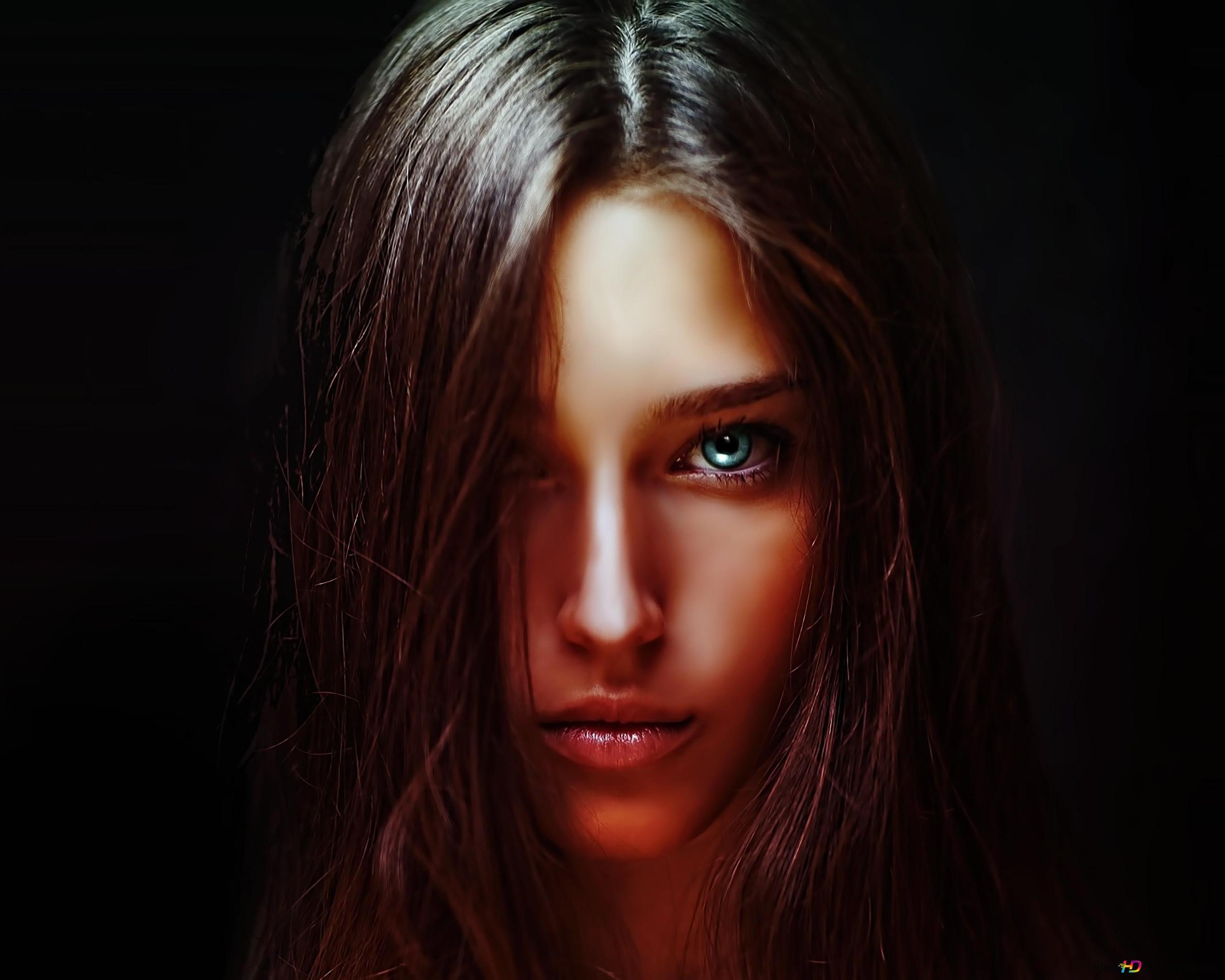 Schöne blaue Augen HD Hintergrundbilder herunterladen