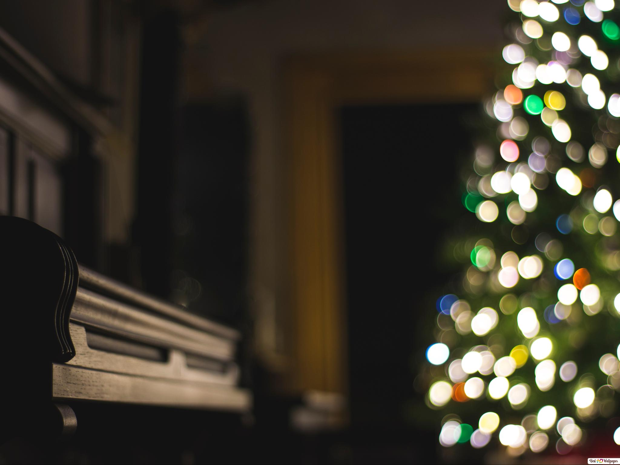 Schwarz Piano Lightning von Weihnachtsbaum HD Hintergrundbilder ...