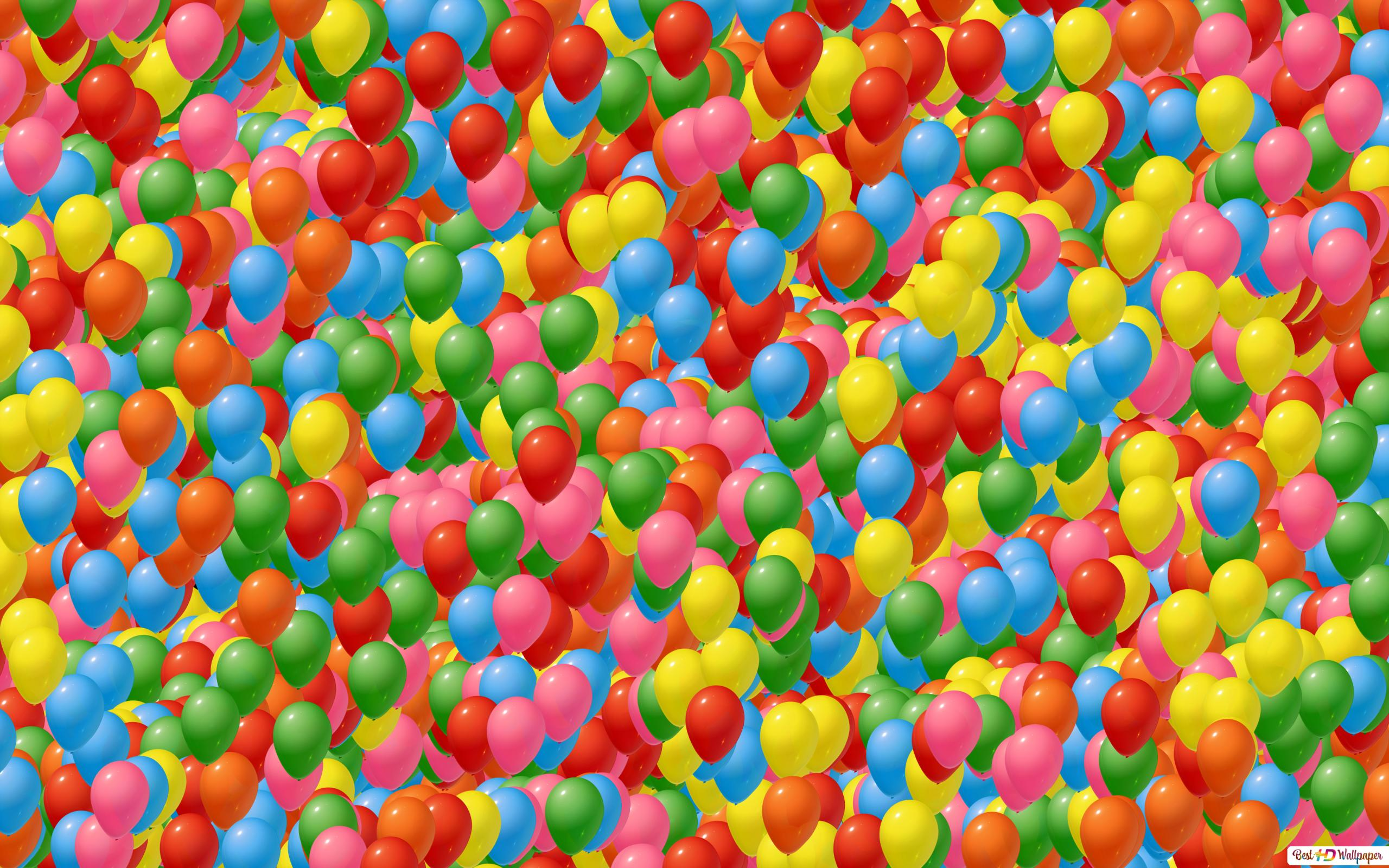 Sea Of Colorful Balloon Hd Wallpaper Download
