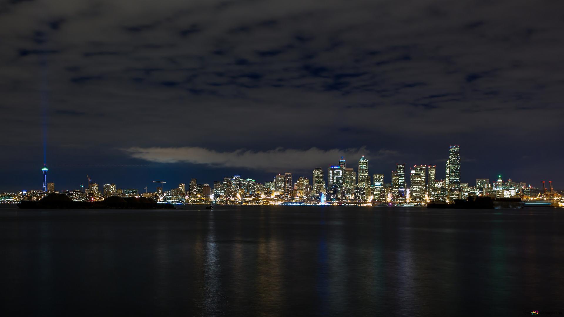 Seattle Night Hd Wallpaper Download