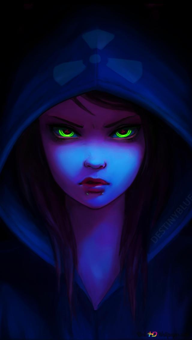 secretive anime girl in the hood wallpaper 640x1136 28011 163