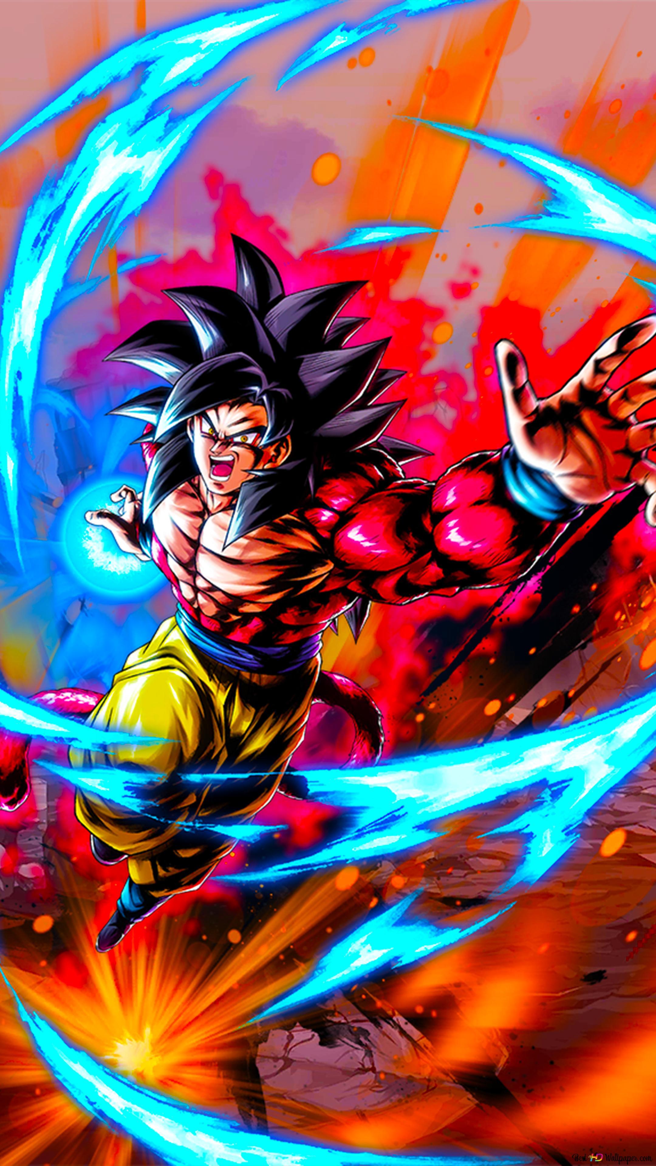 Seni Super Saiyan 4 Goku Dragon Ball Gt Dari Dragon Ball Legends Android Iphone Unduhan Wallpaper Hd