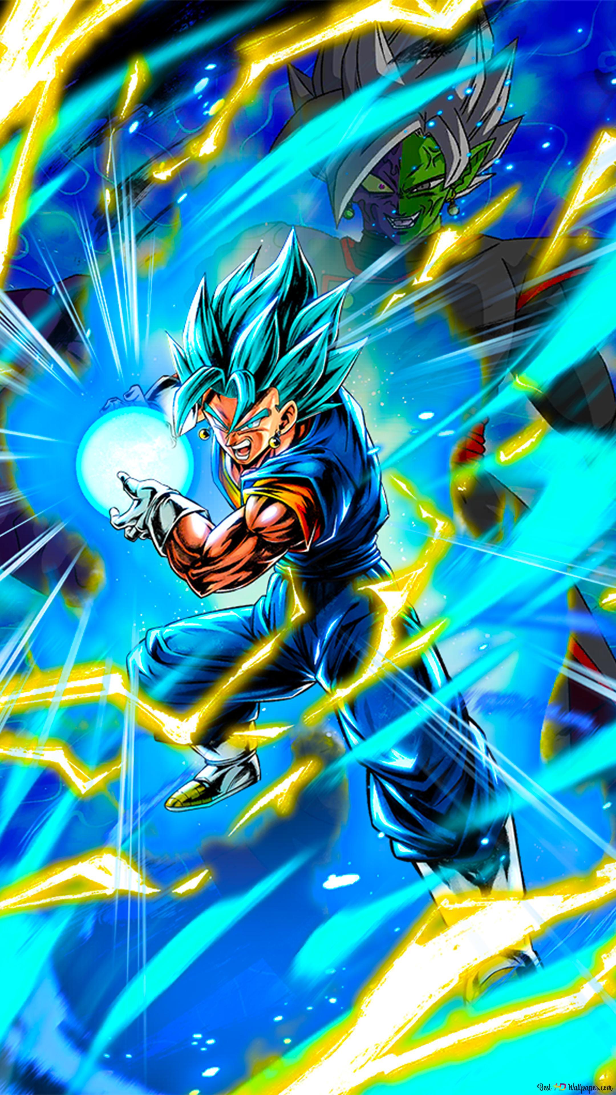 Seni Vegito Biru Super Vegito Biru Dragon Ball Super Dari Dragon Ball Legends Android Iphone Unduhan Wallpaper Hd