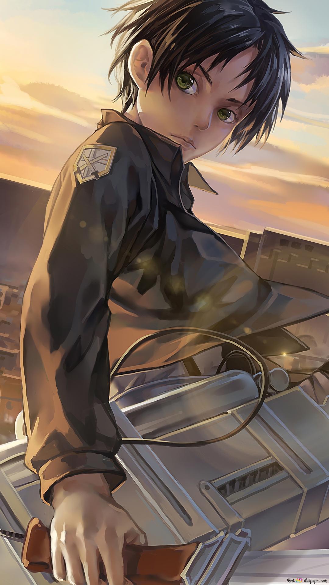 Serangan Pada Titan Eren Jaeger Unduhan Wallpaper Hd