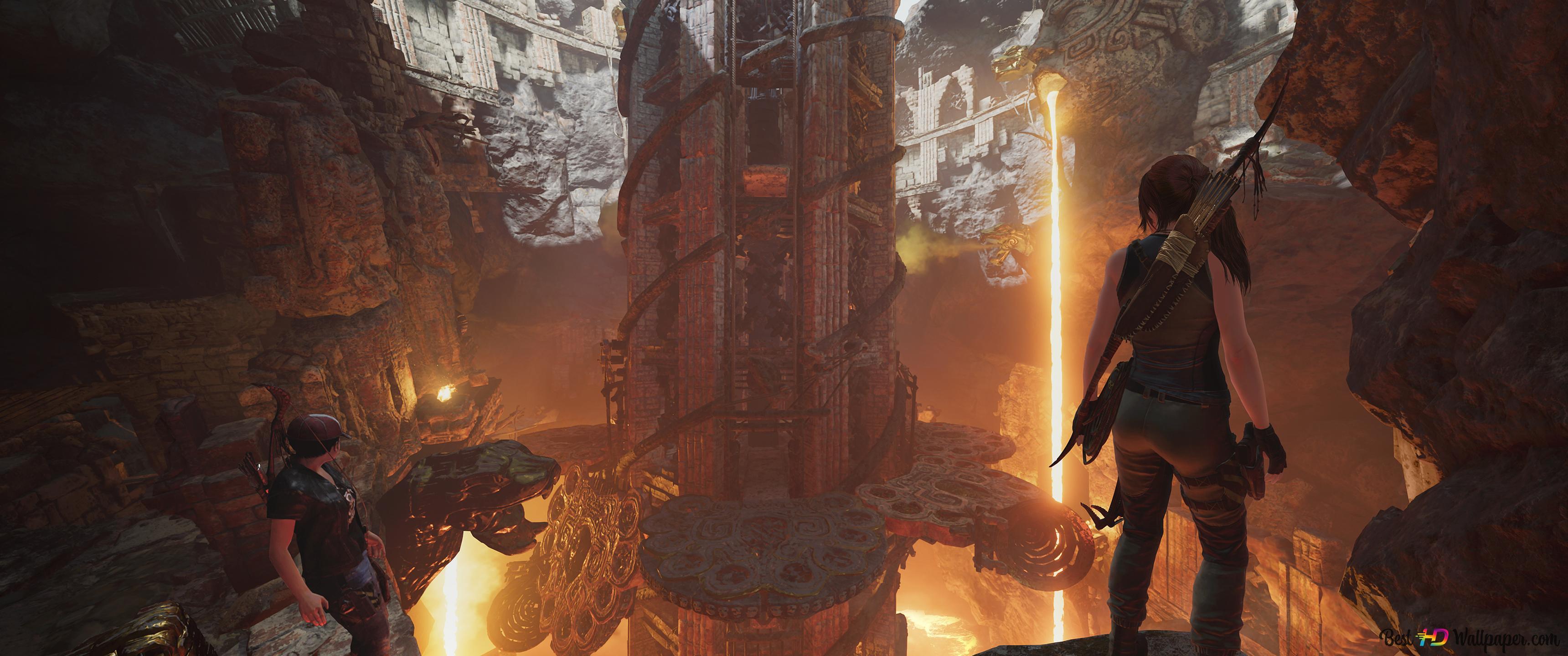 Shadow Of The Tomb Raider At The Ruins Hd Wallpaper Download
