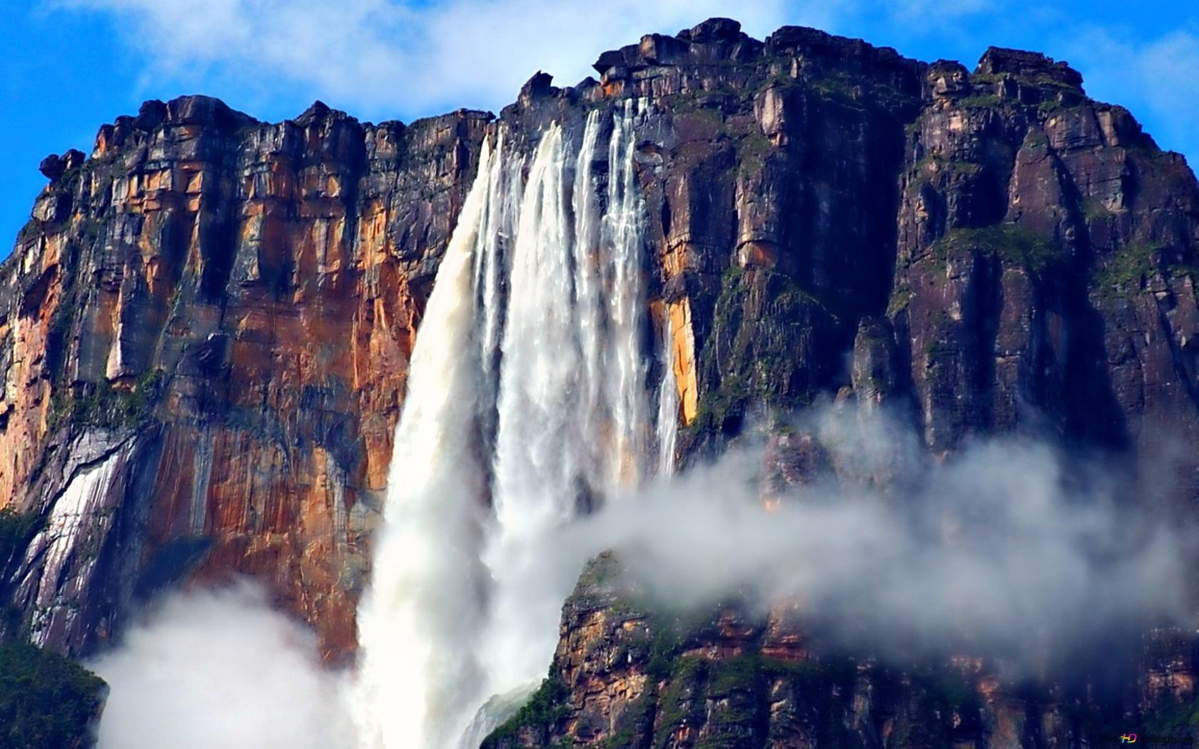 شلالات انجيل في فنزويلا تنزيل خلفية HD