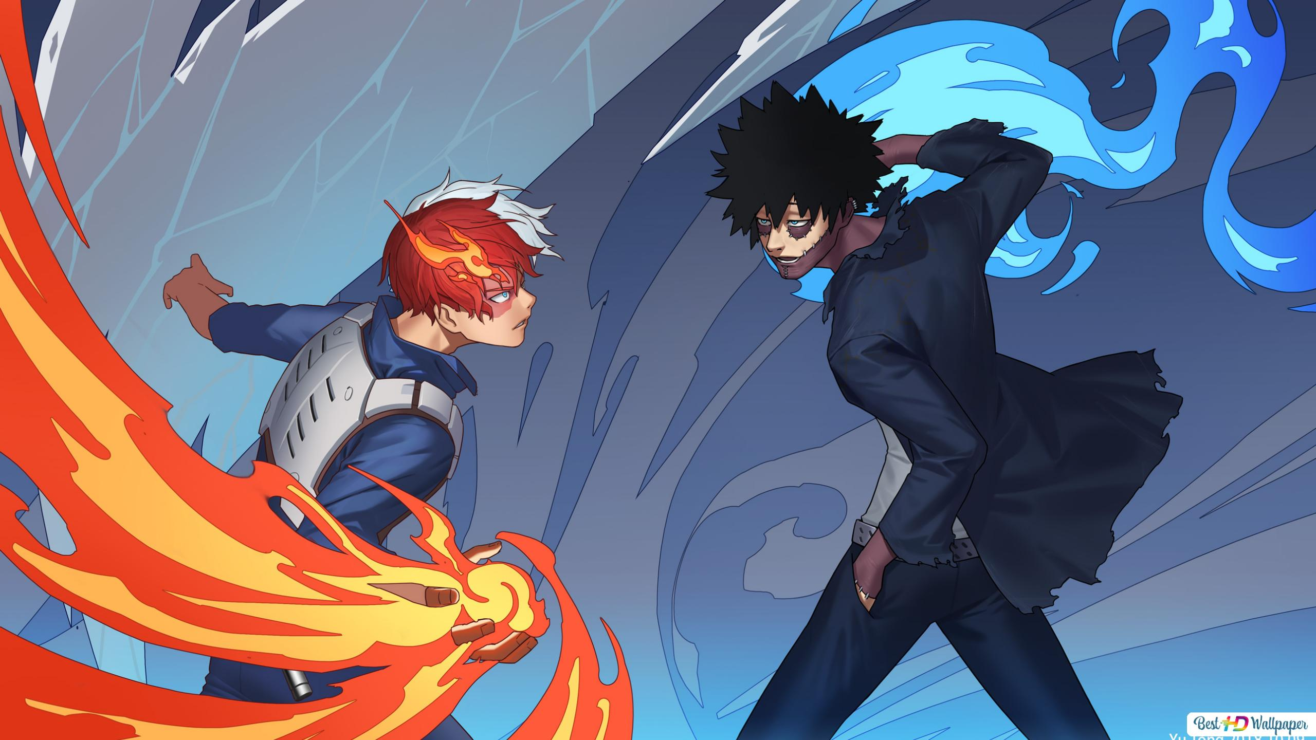 Shoto And Dabi My Hero Academia Hd Wallpaper Download